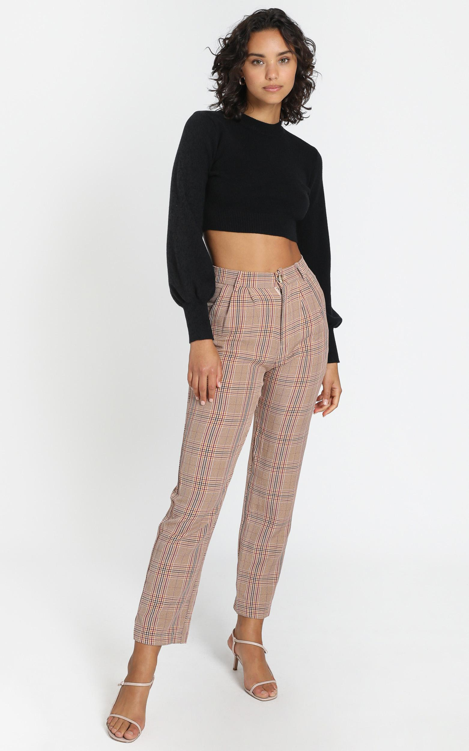 Laila Pants in Blus Check - 6 (XS), Blush, hi-res image number null