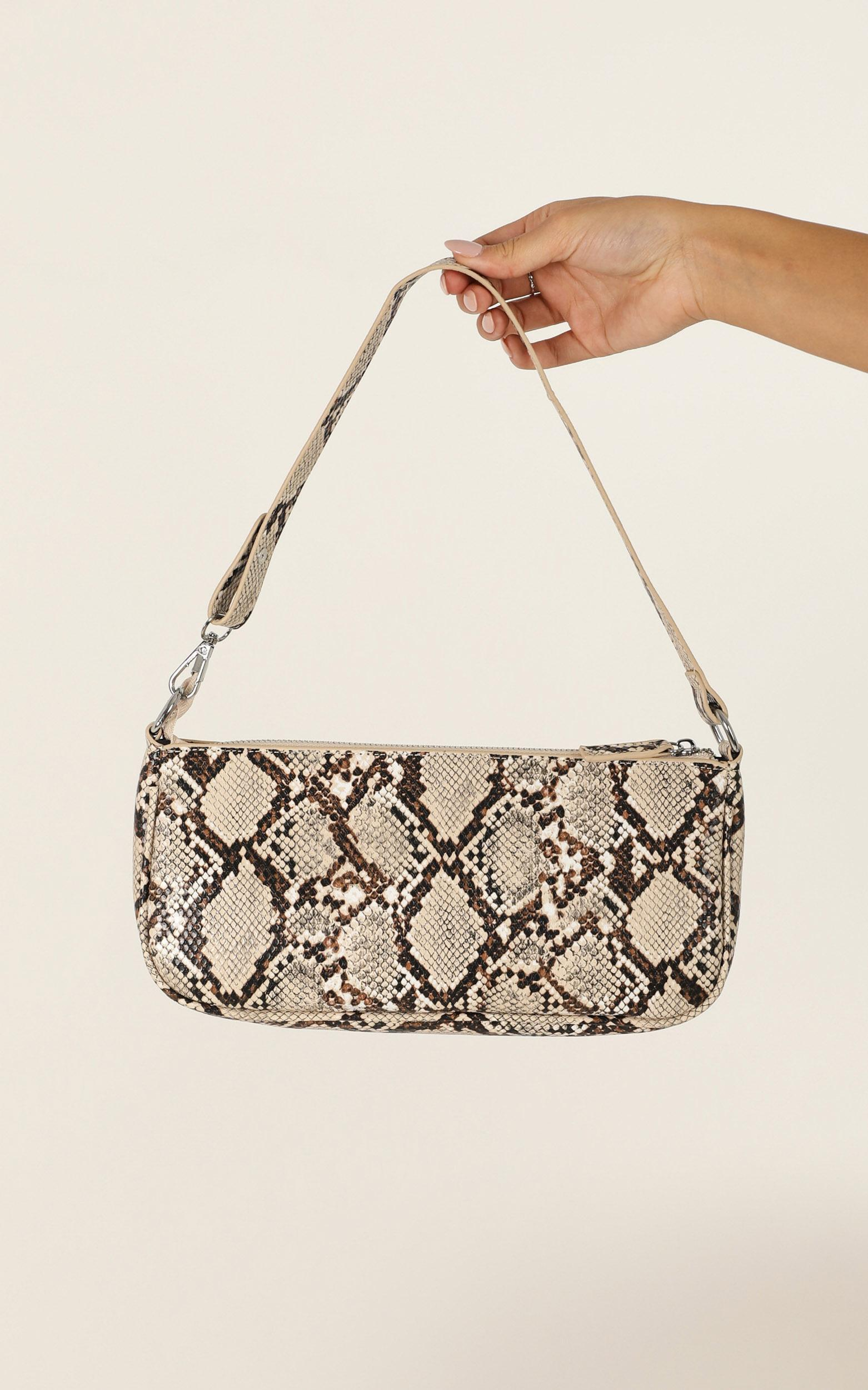 Save My Love Bag In Snake, Grey, hi-res image number null