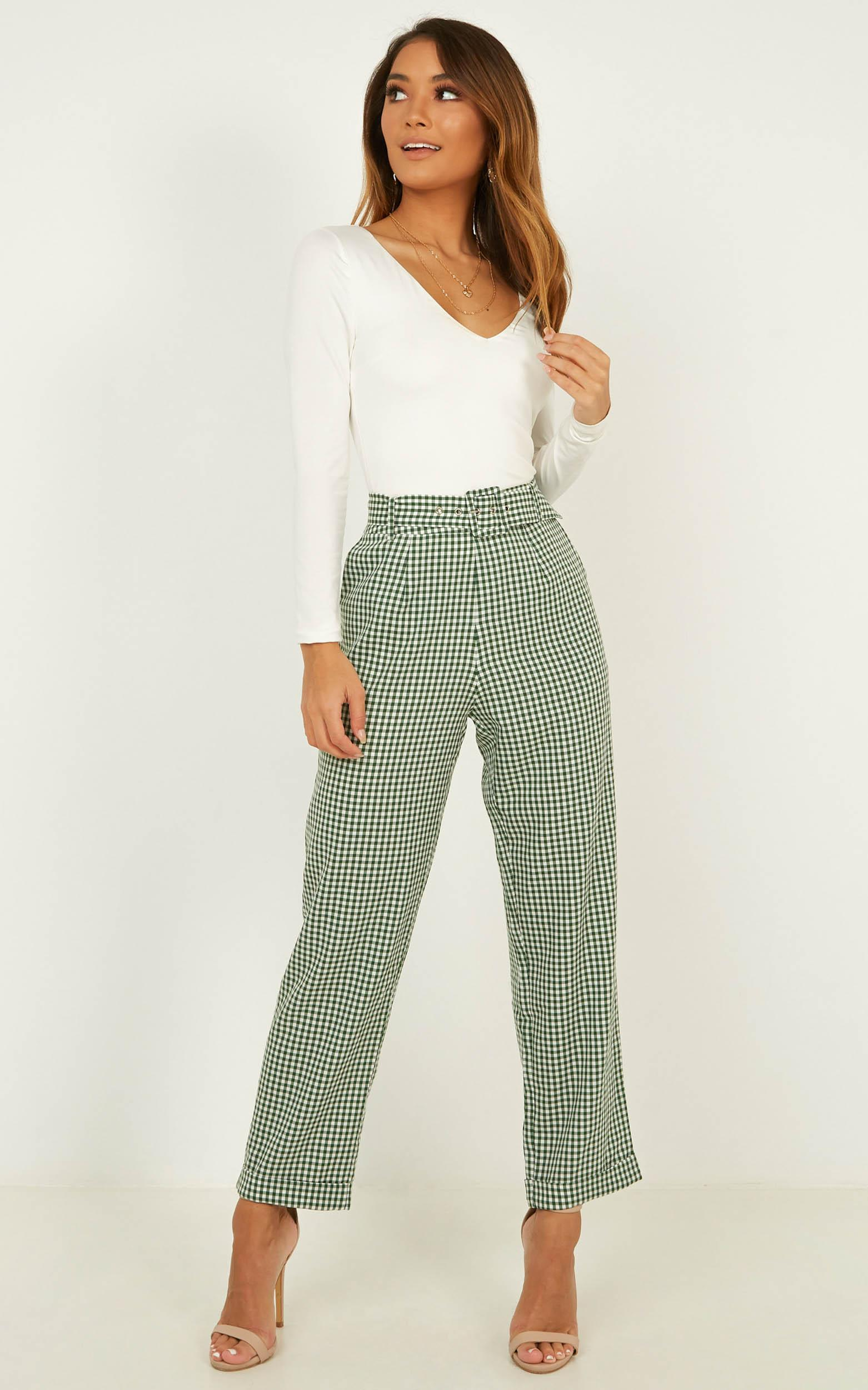 Eyes On The Road Pants In forest check- 18 (XXXL), Green, hi-res image number null