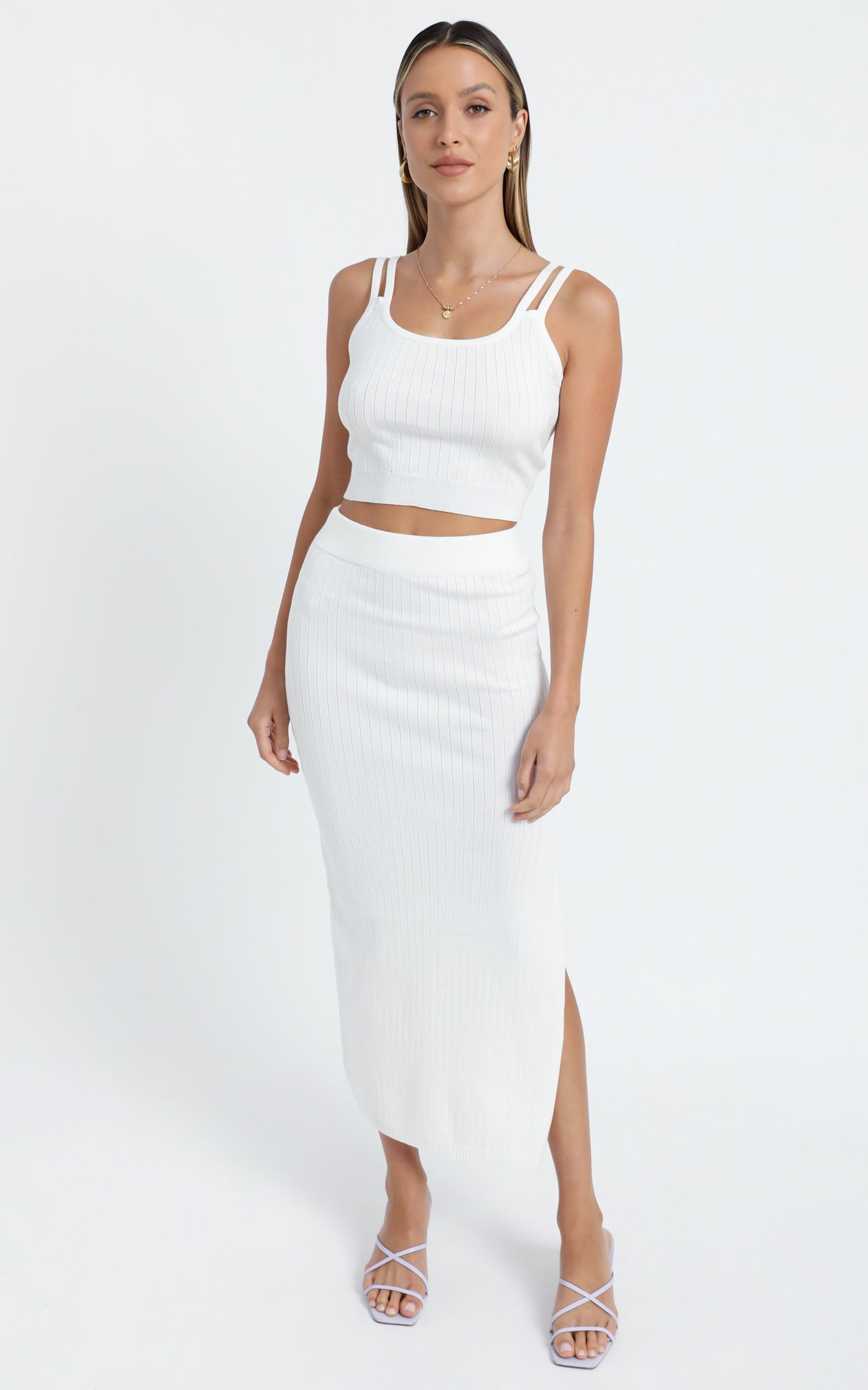 Yuna Two Piece Set in White - 6 (XS), White, hi-res image number null