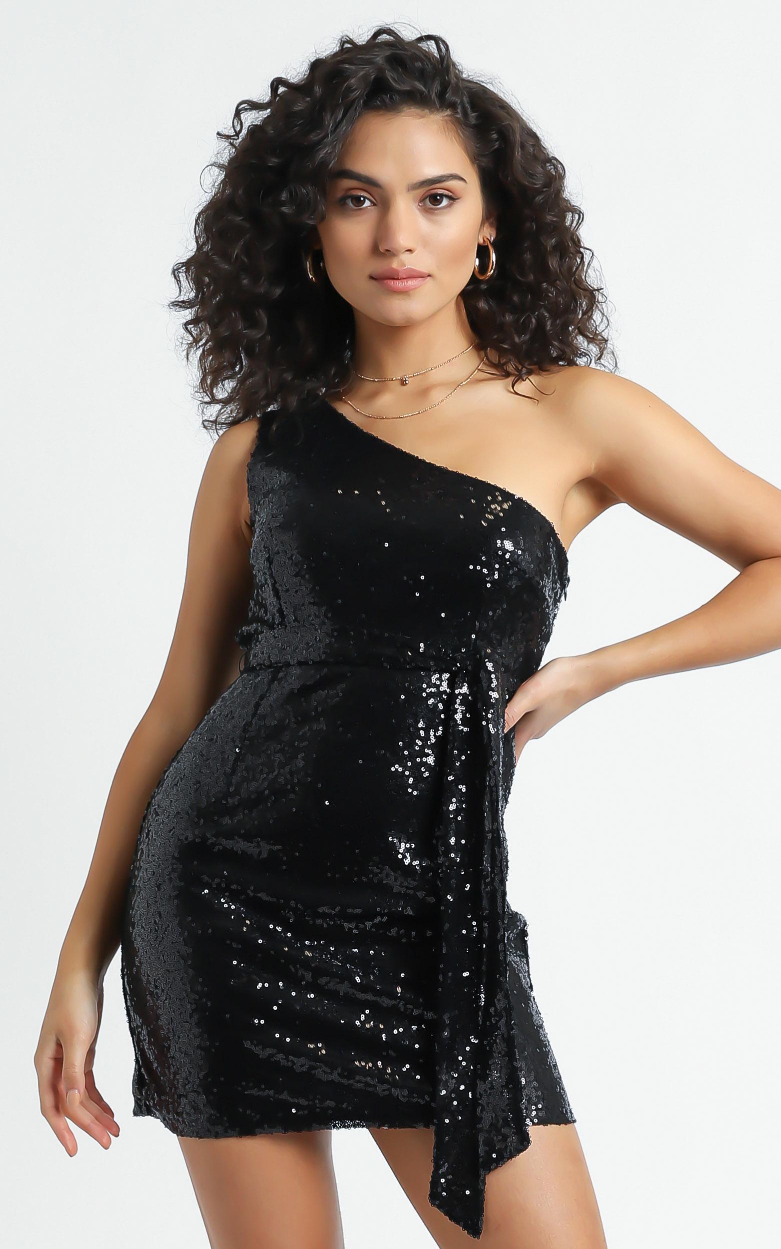Safrae Dress in Black - 6 (XS), Black, hi-res image number null