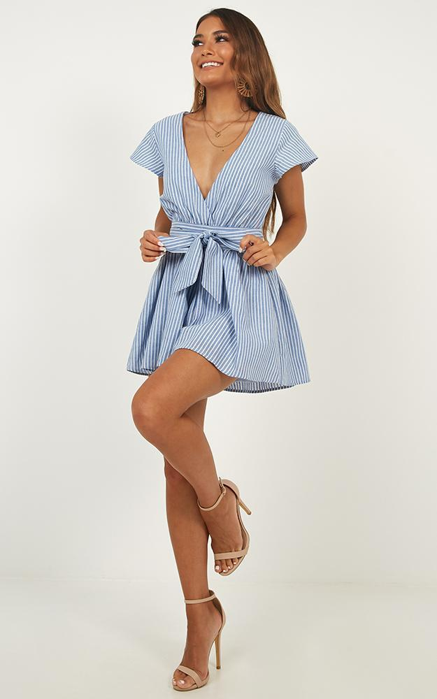Top It Off Playsuit in blue stripe - 20 (XXXXL), Blue, hi-res image number null