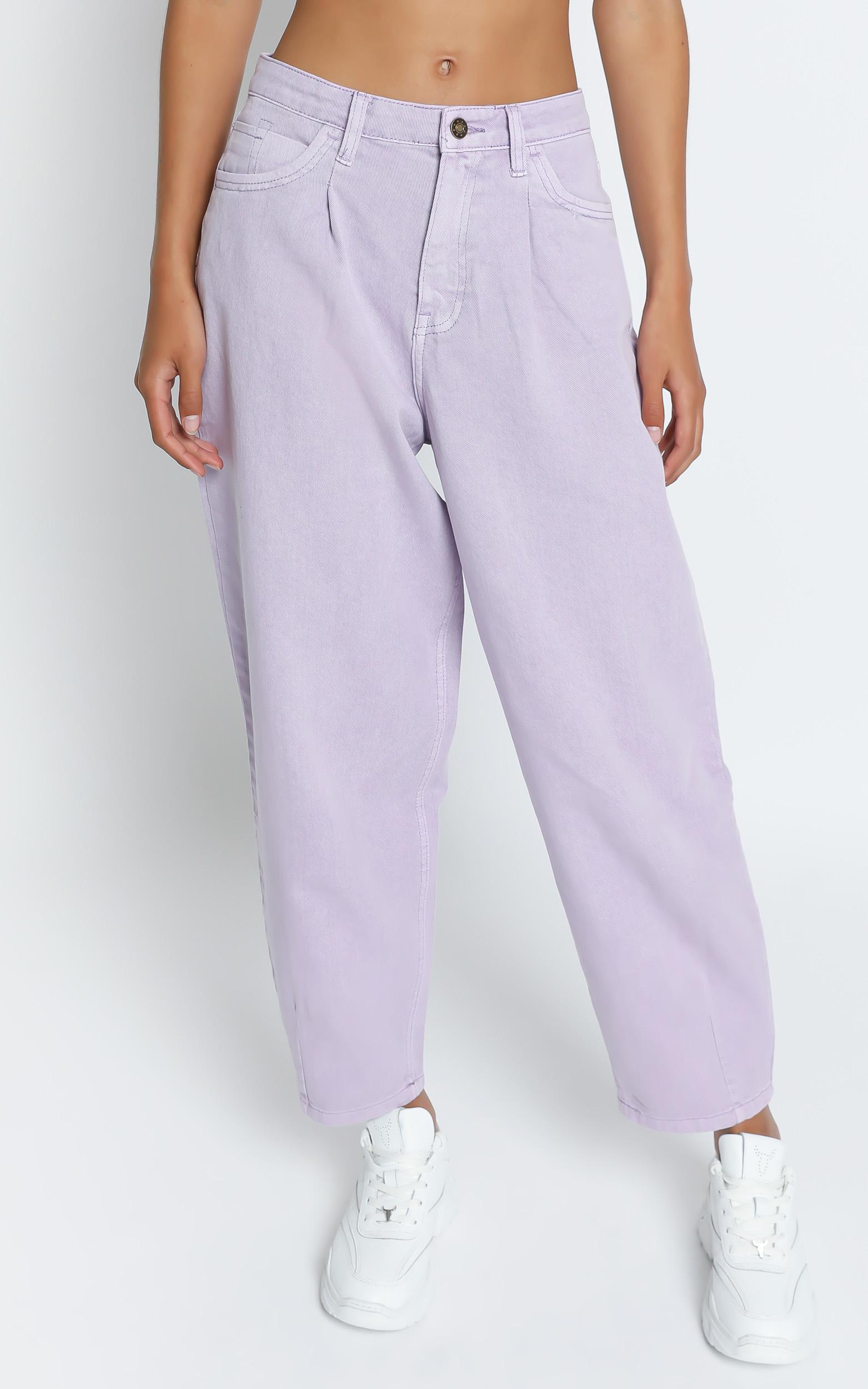 Lioness - On My Way Denim Jean in Lilac - 4 (XXS), PRP1, hi-res image number null