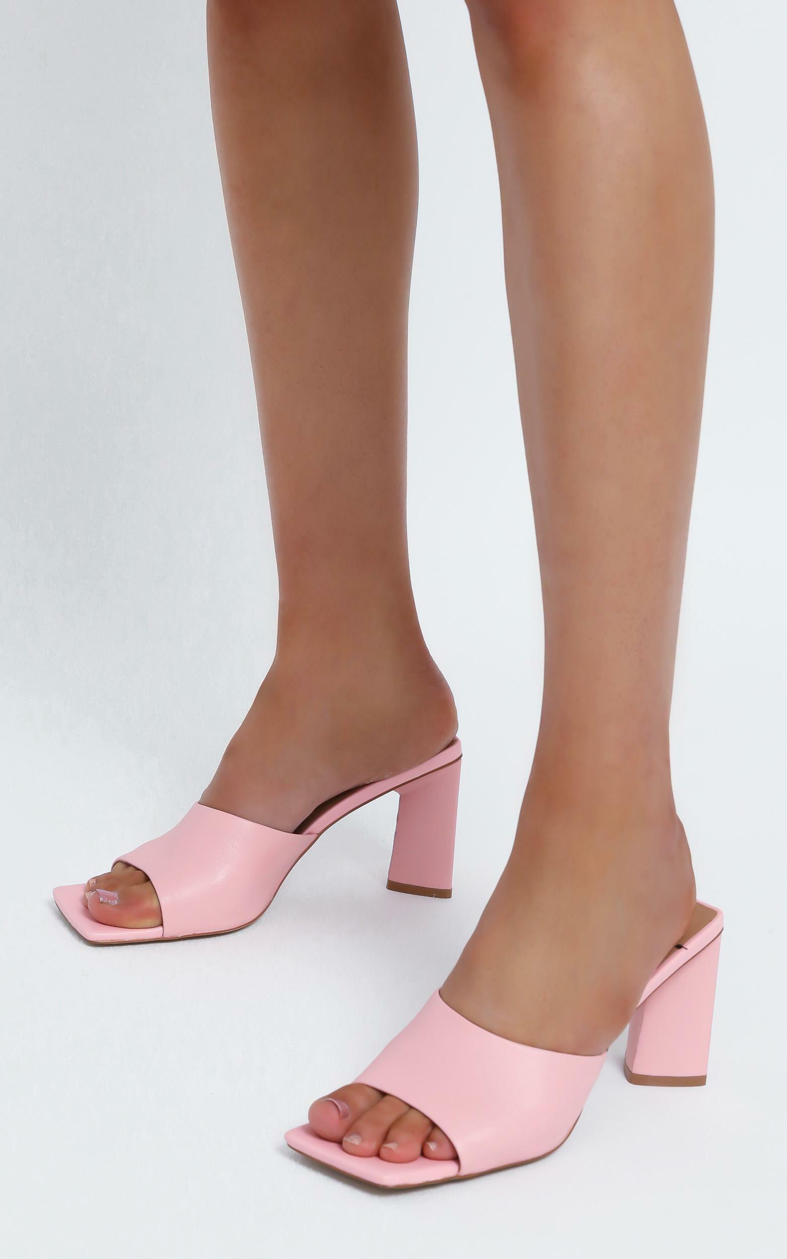 Alias Mae - Macy Heel in Pink Kid Leather - 10.5, Pink, hi-res image number null