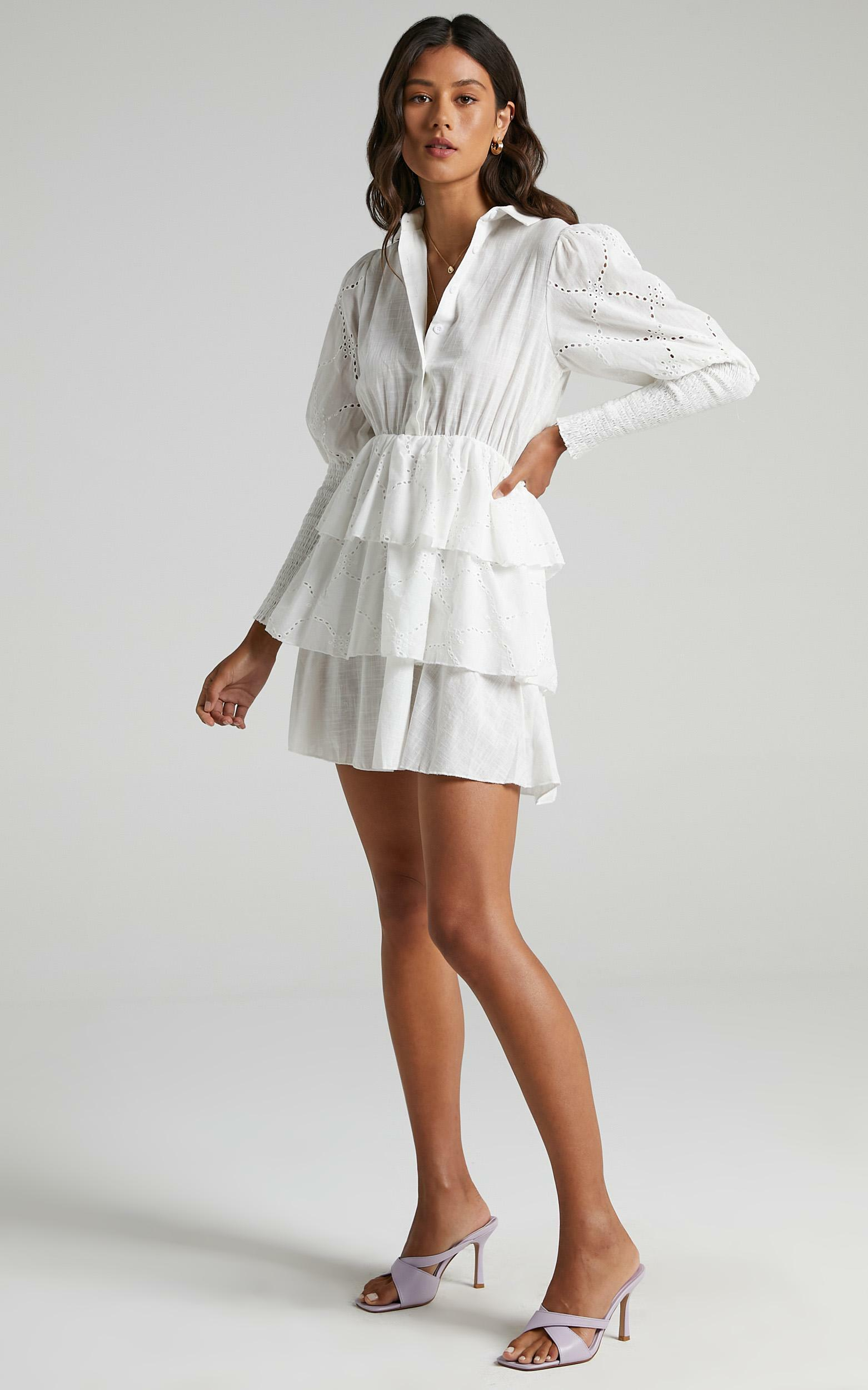 Renae Dress in White - 6 (XS), White, hi-res image number null
