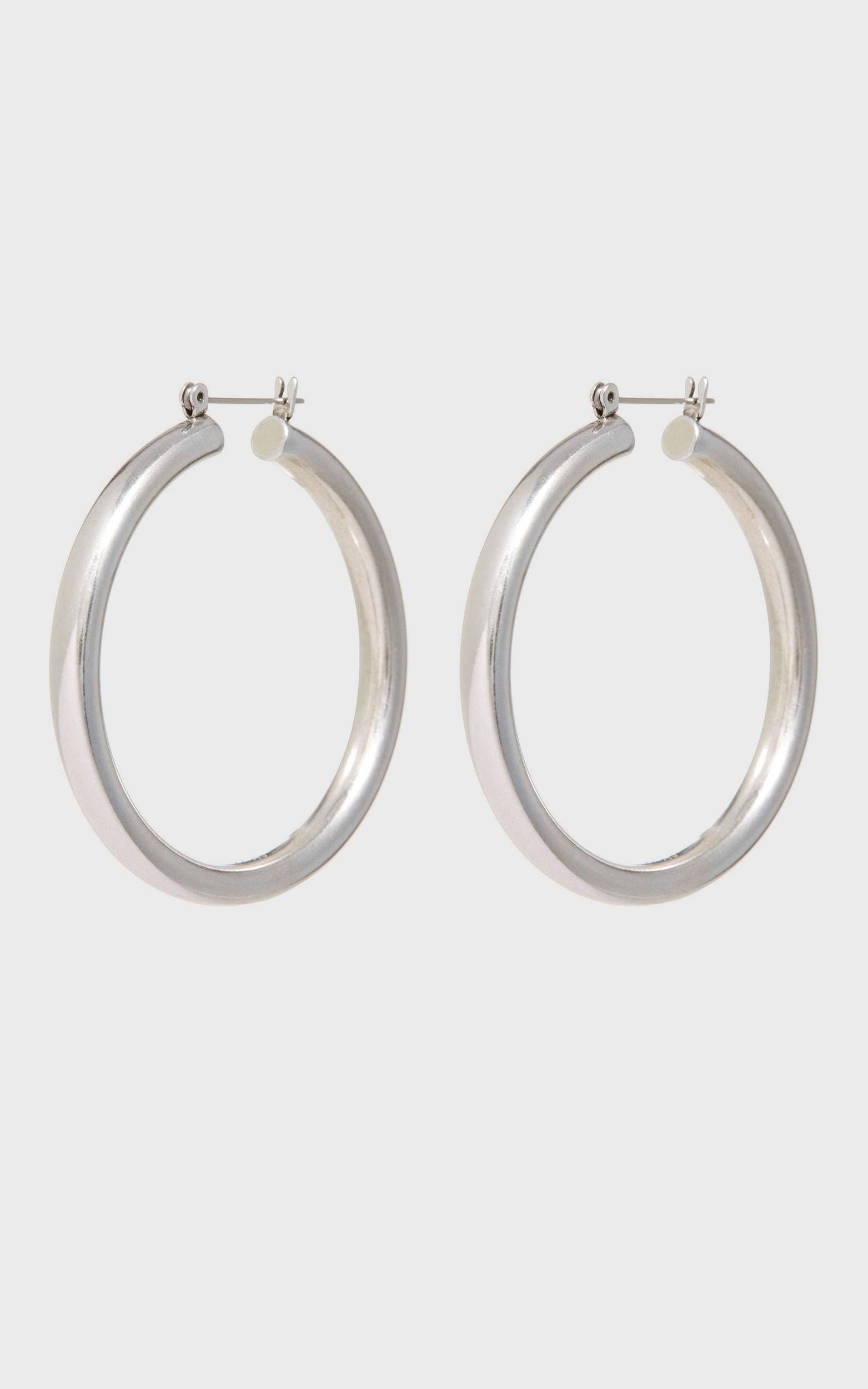 Luv Aj - The Amalfi Tube Hoops in Silver, Silver, hi-res image number null