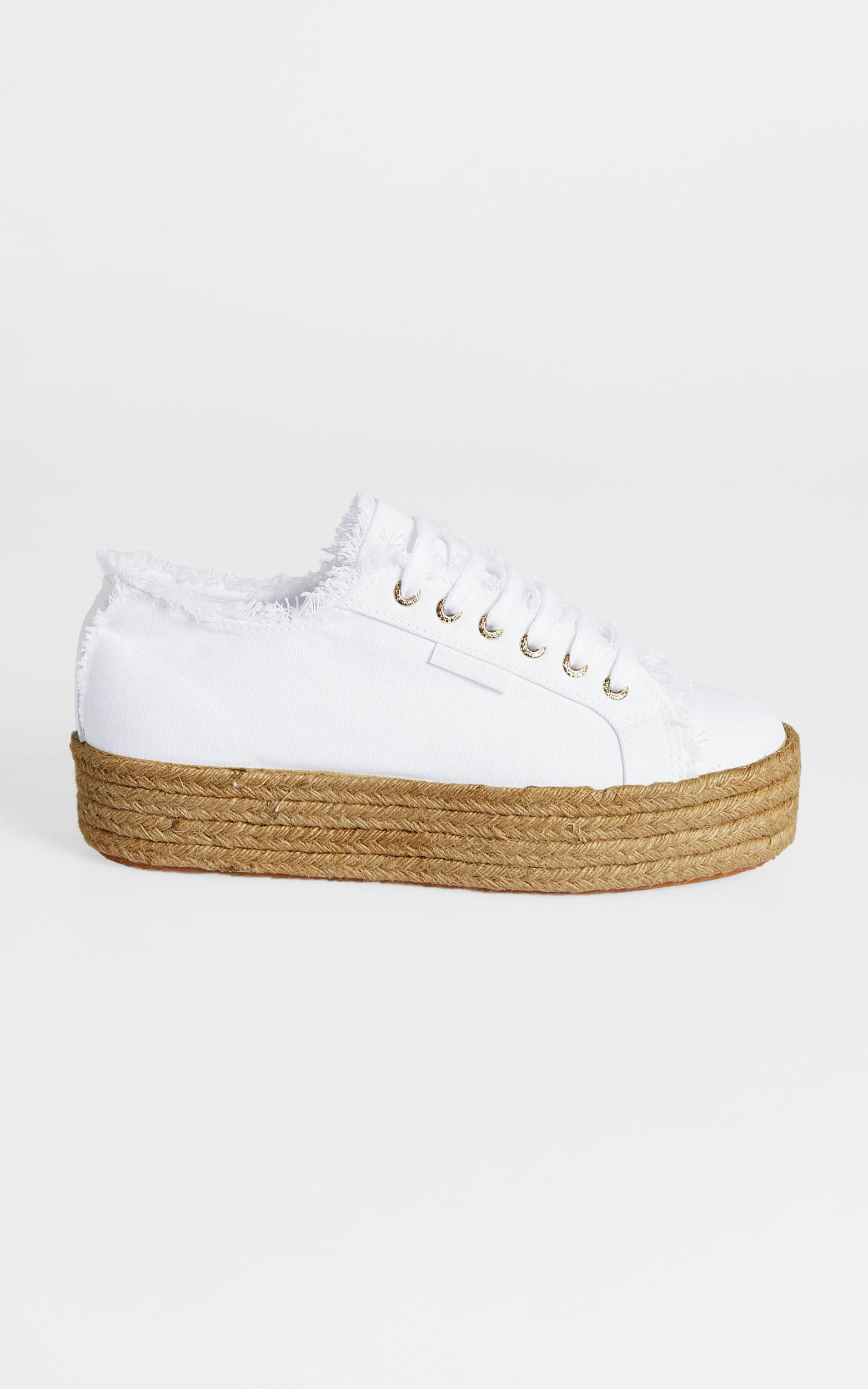 Superga - 2790 Fringed Cotton Rope in 901 White - 5, White, hi-res image number null