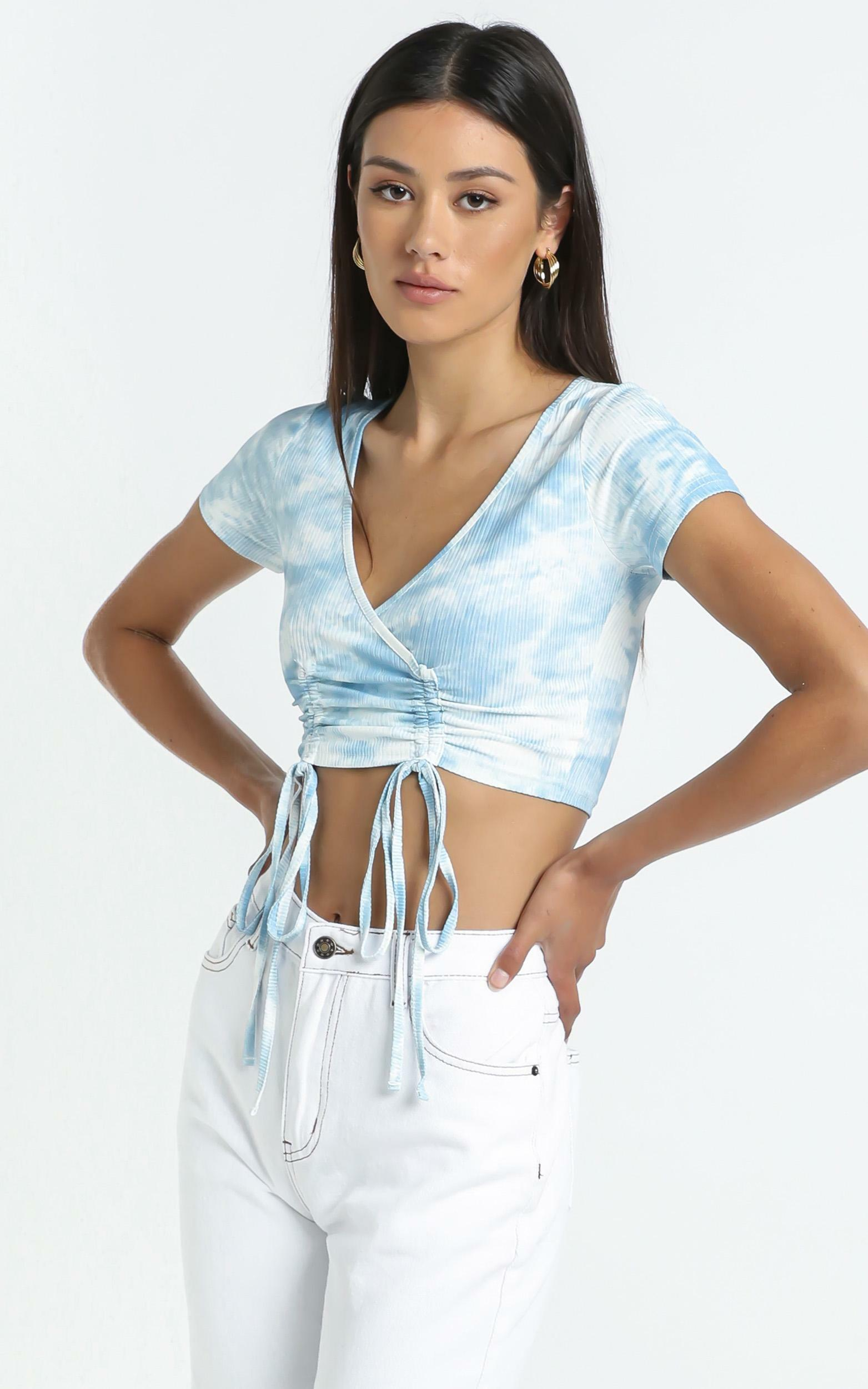 Sian Top in Blue Tie Dye - L, Blue, hi-res image number null