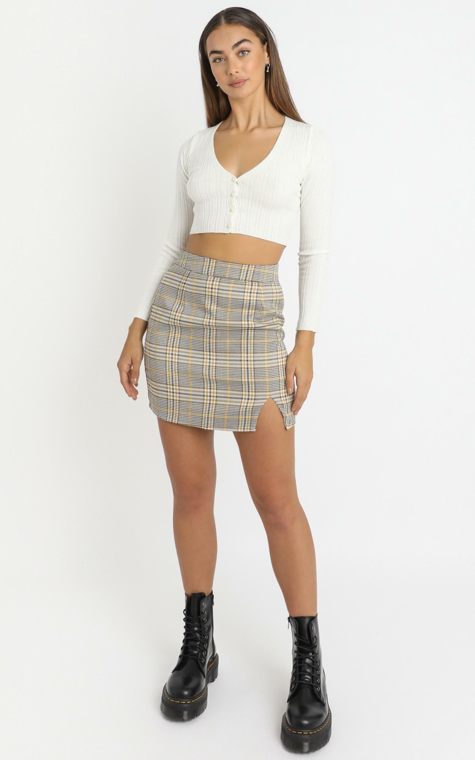 First Editions Skirt in camel check - 4 (XXS), Camel, hi-res image number null