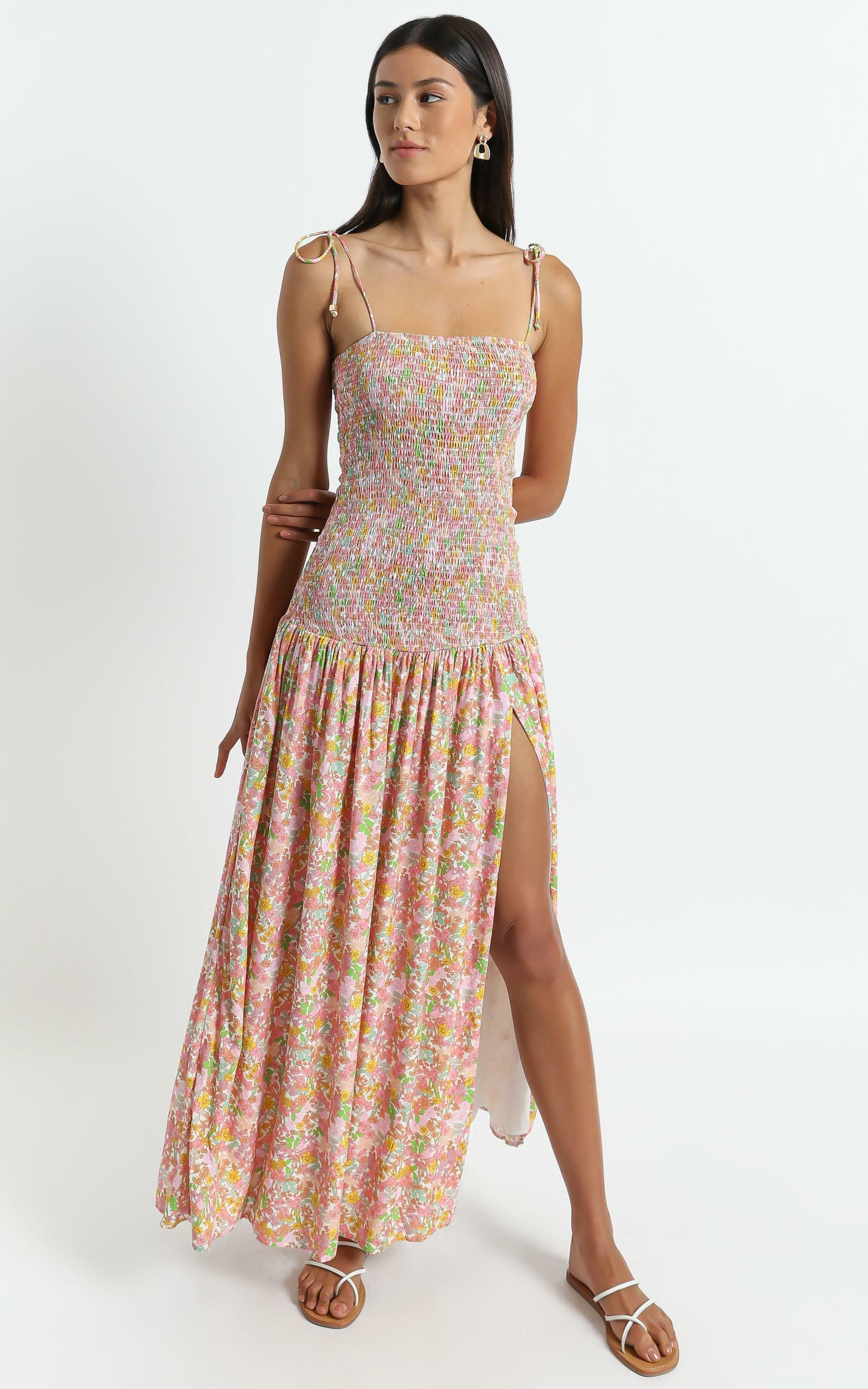 Lotta Dress in Flower Field - 6 (XS), Pink, hi-res image number null
