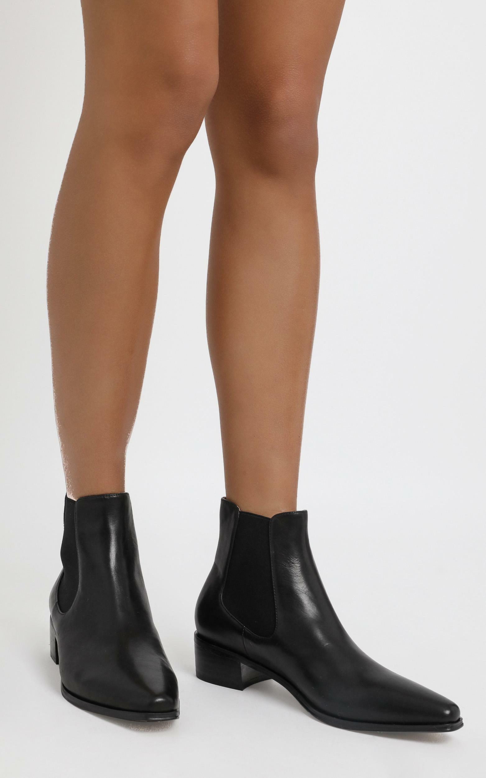 Alias Mae - Yasmyn Boots in Black Burnished - 5.5, Black, hi-res image number null