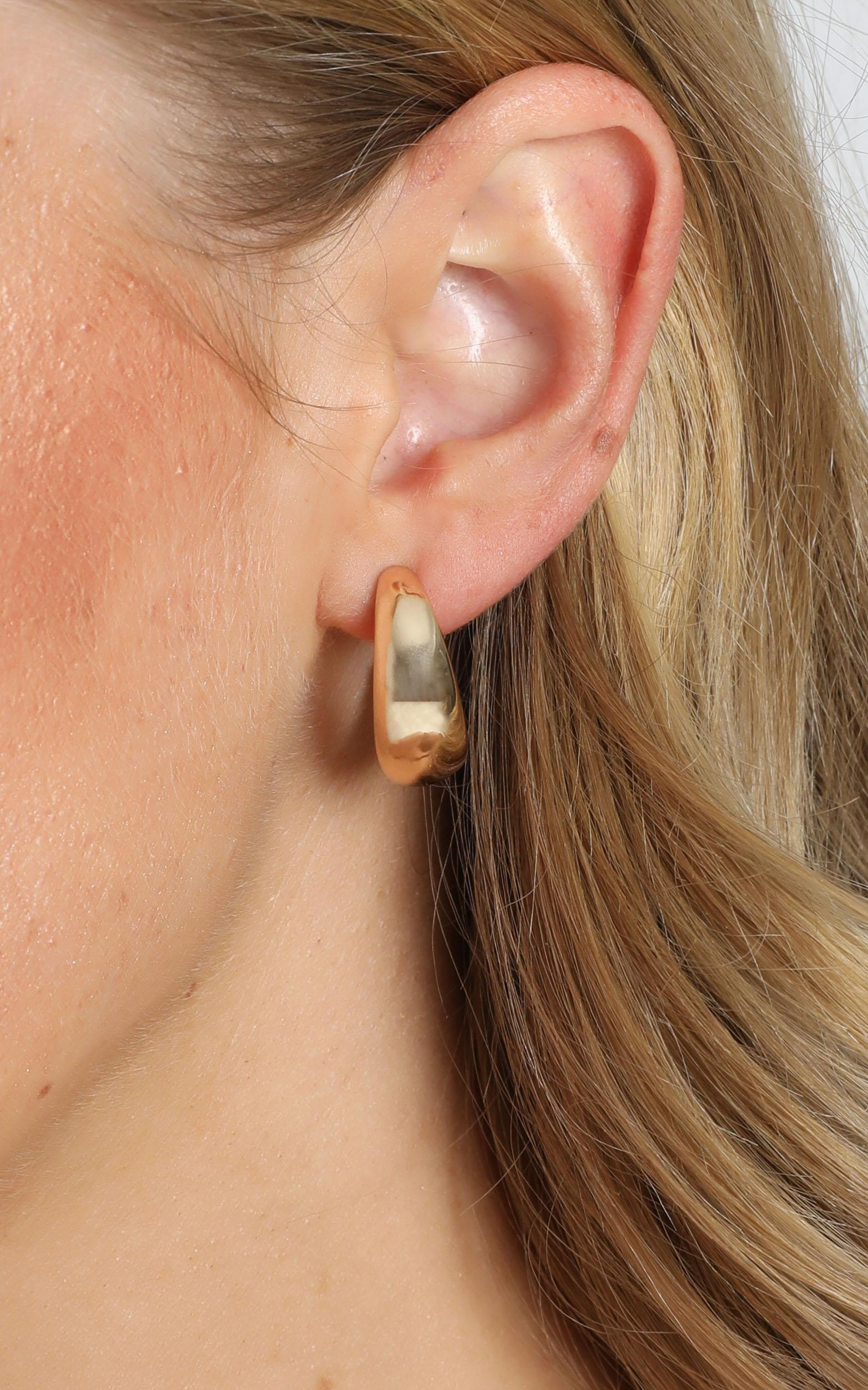 JT Luxe - Artisan Hoop Earrings in Gold, , hi-res image number null