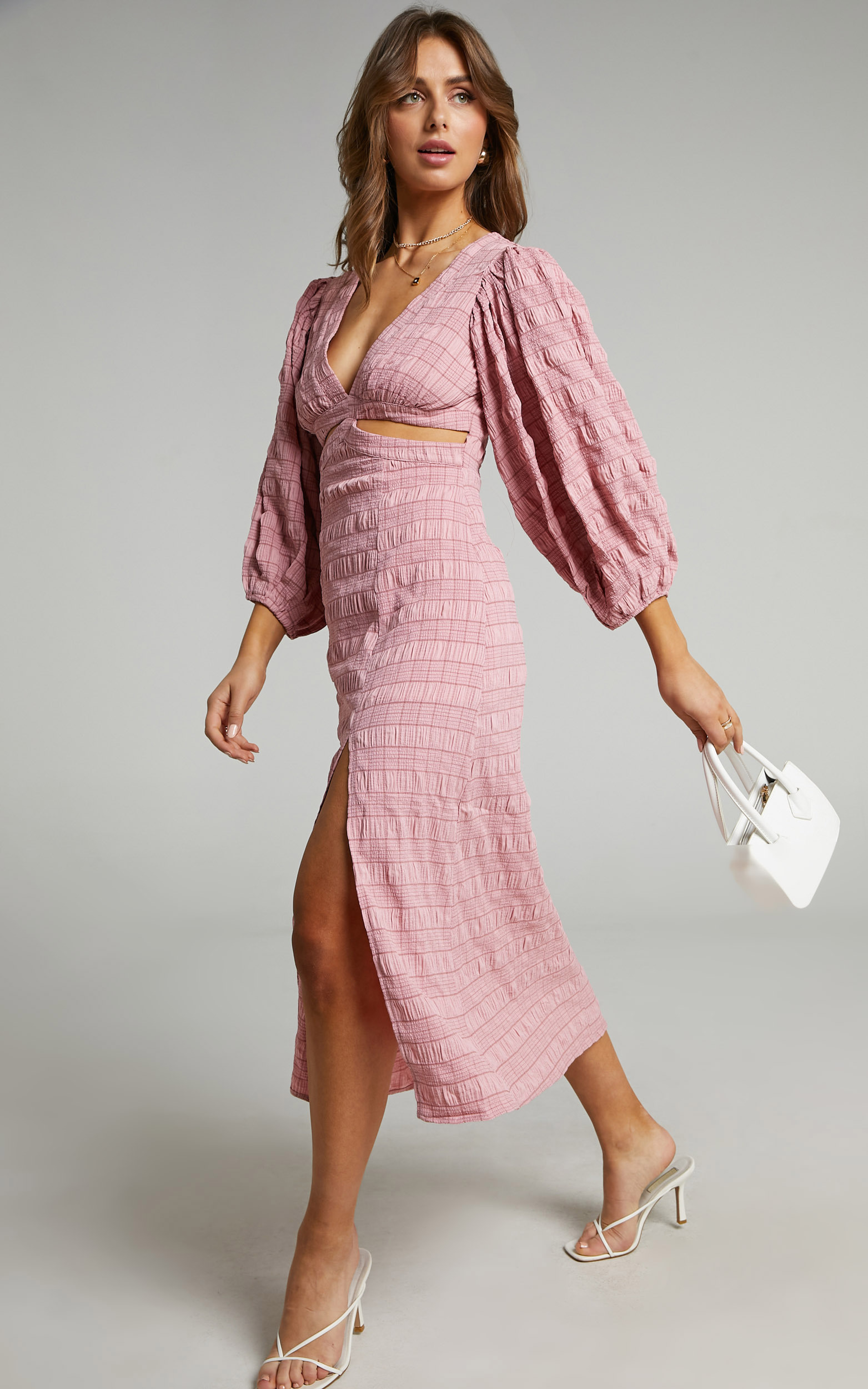Tabatha Dress in Pink Check - 06, PNK1, hi-res image number null
