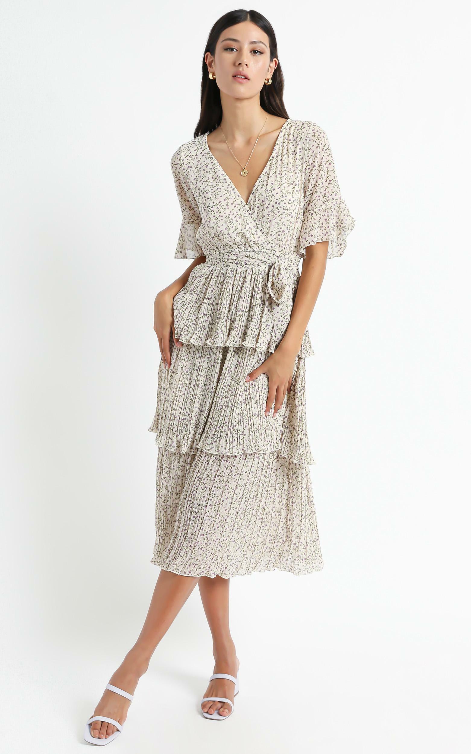 Jayden Dress In White Floral - 16 (XXL), White, hi-res image number null
