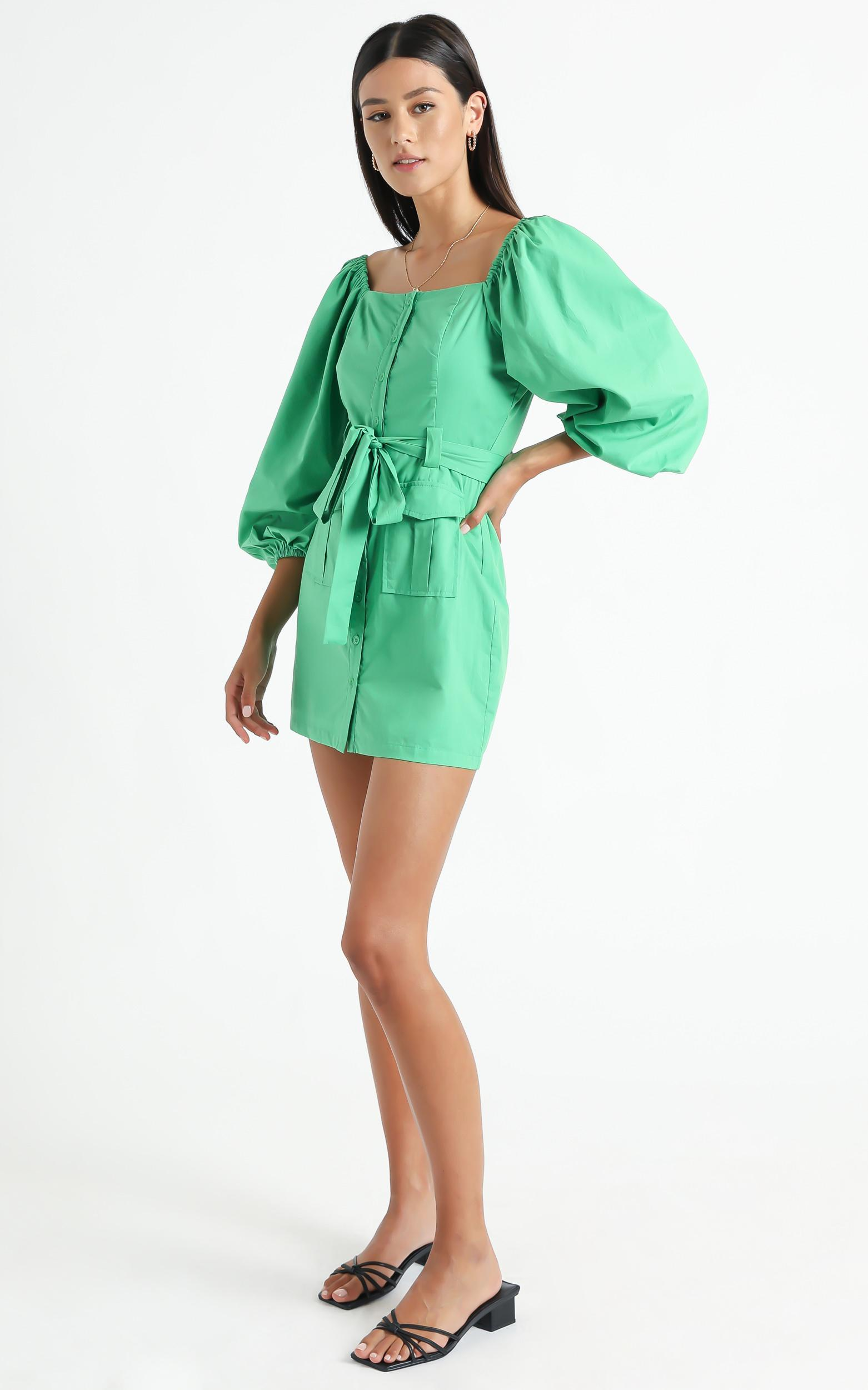 Lahaina Dress in Green - 6 (XS), Green, hi-res image number null