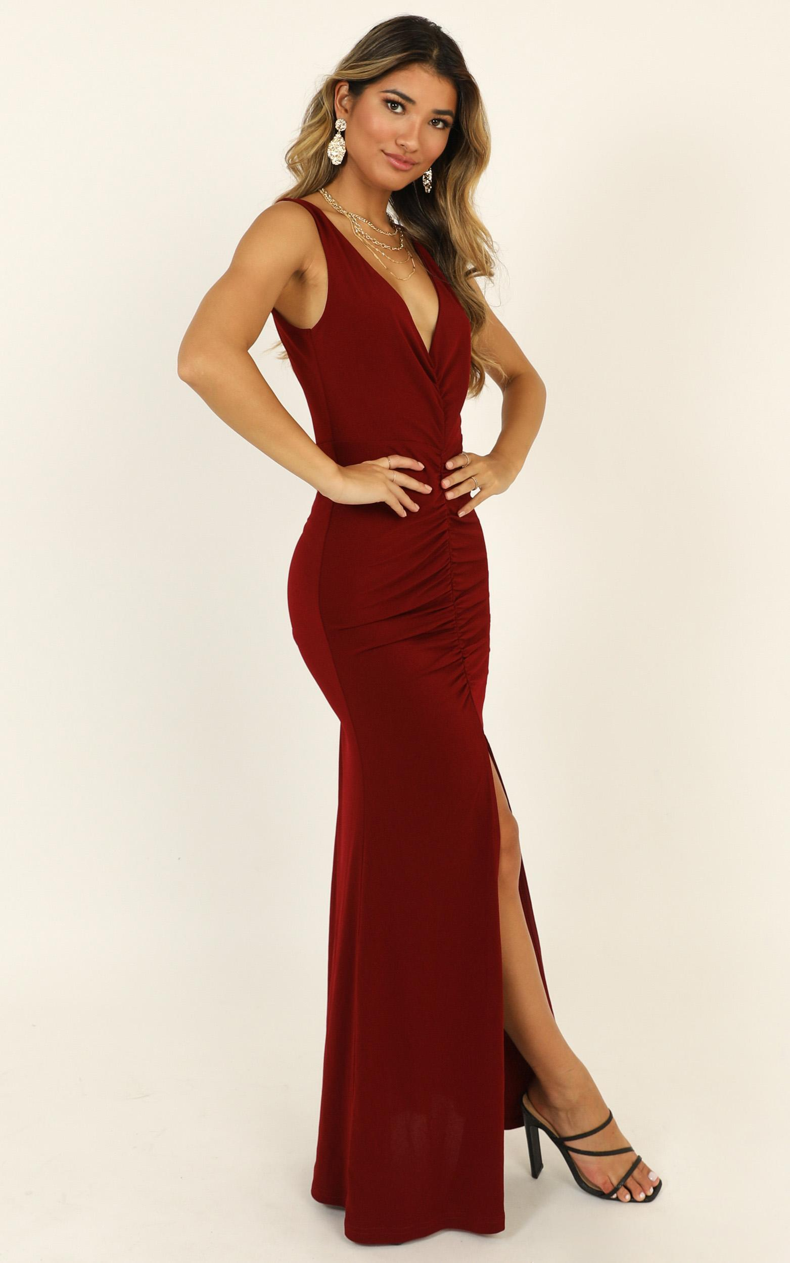 Im Falling For You Maxi dress in wine - 14 (XL), Wine, hi-res image number null