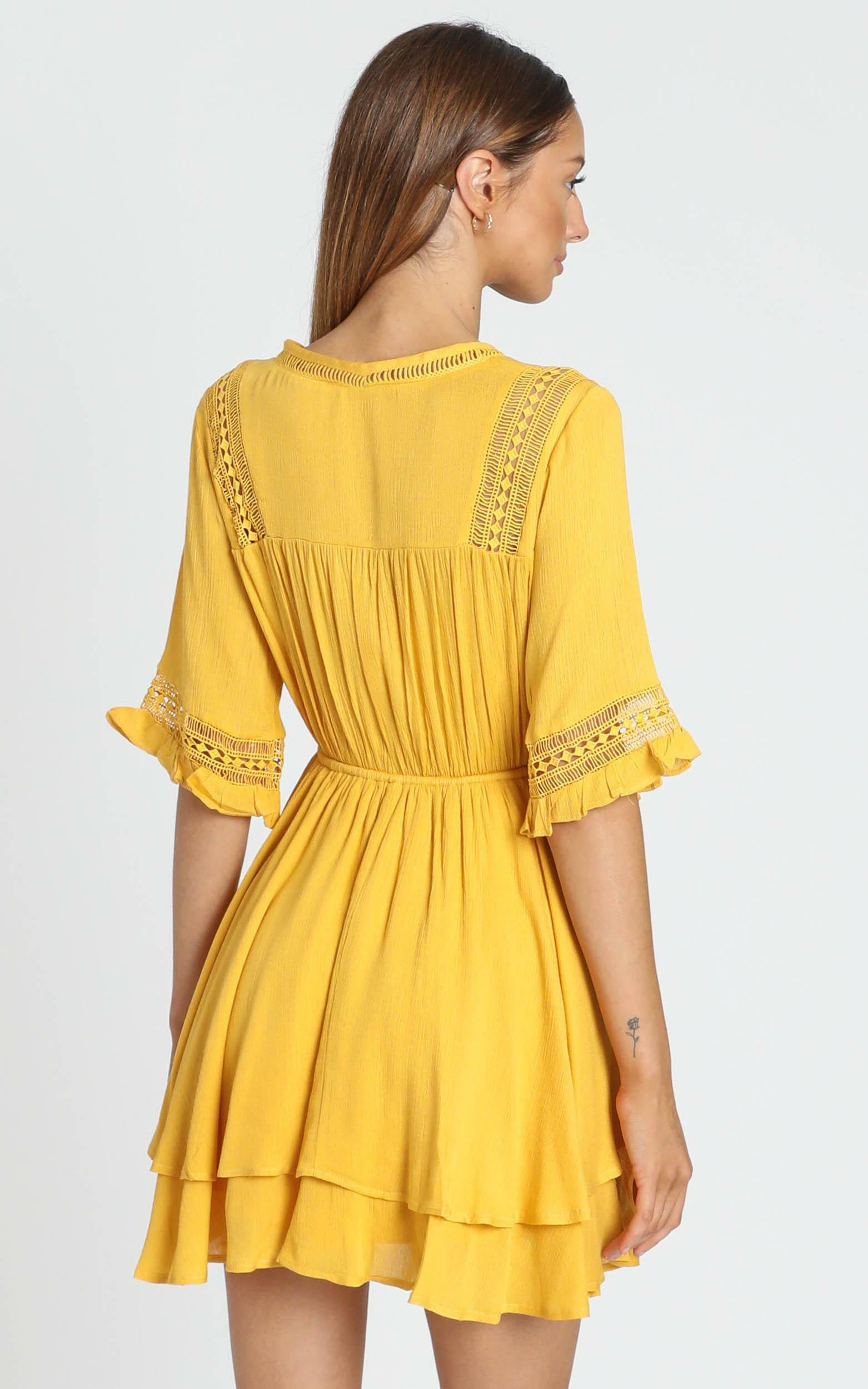 Rise Again Dress in mustard - 6 (XS), Mustard, hi-res image number null