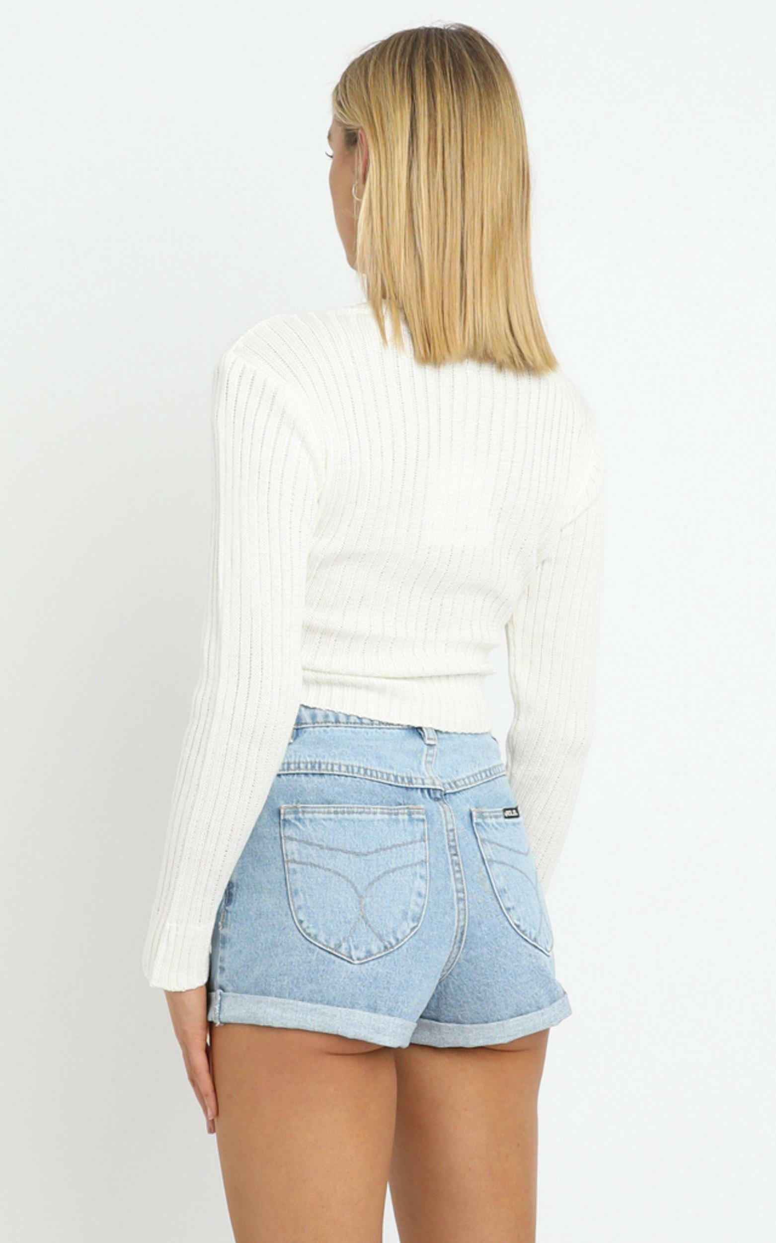 Leandra Knit Top in White, WHT1, hi-res image number null