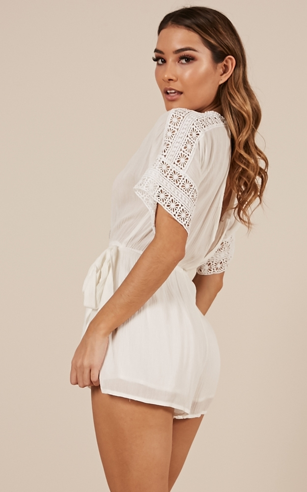 Single Touch playsuit in white - 12 (L), White, hi-res image number null