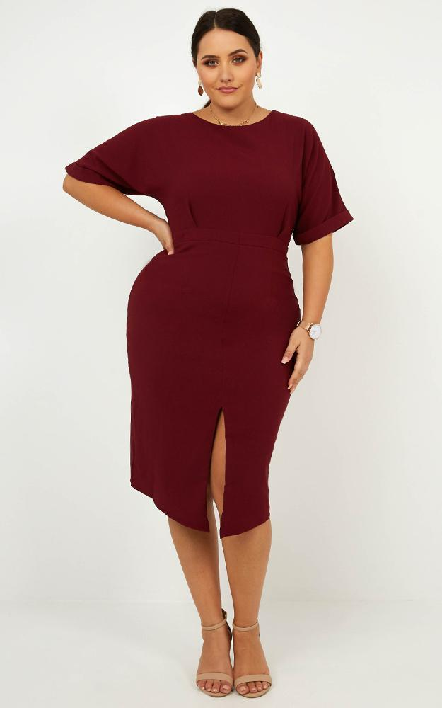 Run the Show dress in wine-4 (XXS), Wine, hi-res image number null