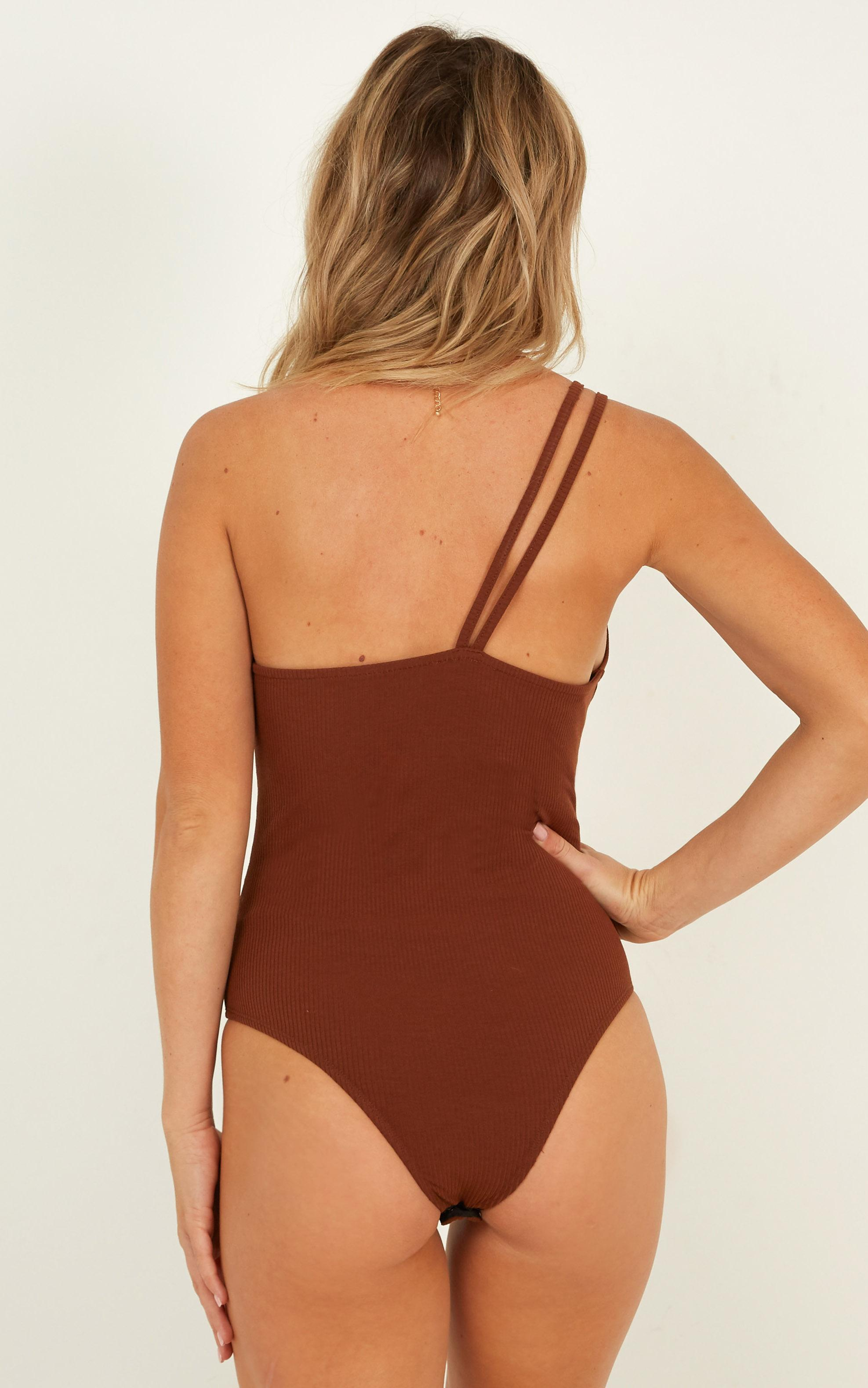Cosmos Bodysuit In chocolate - 20 (XXXXL), Brown, hi-res image number null