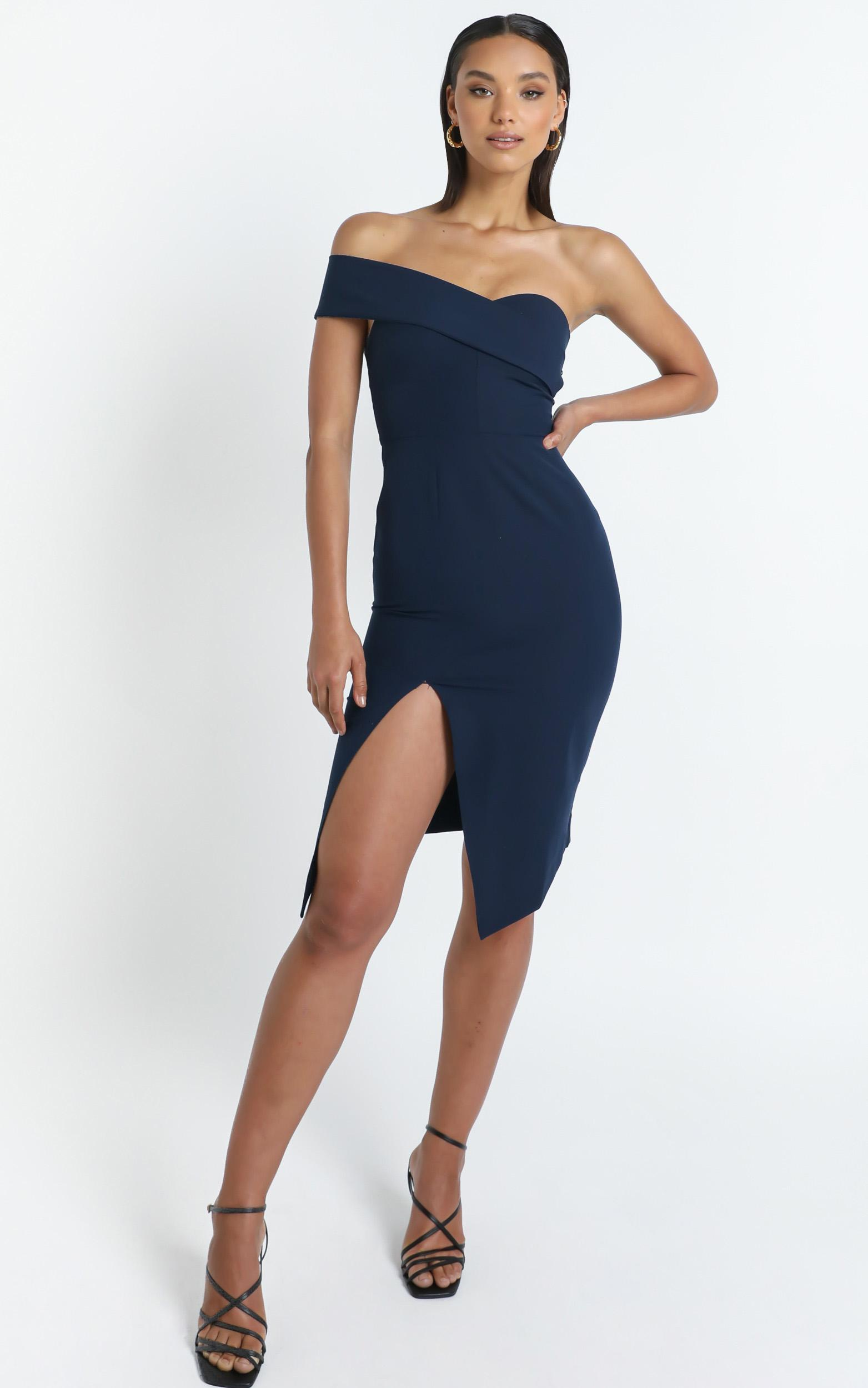 By Your Side dress in navy - 6 (XS), Navy, hi-res image number null