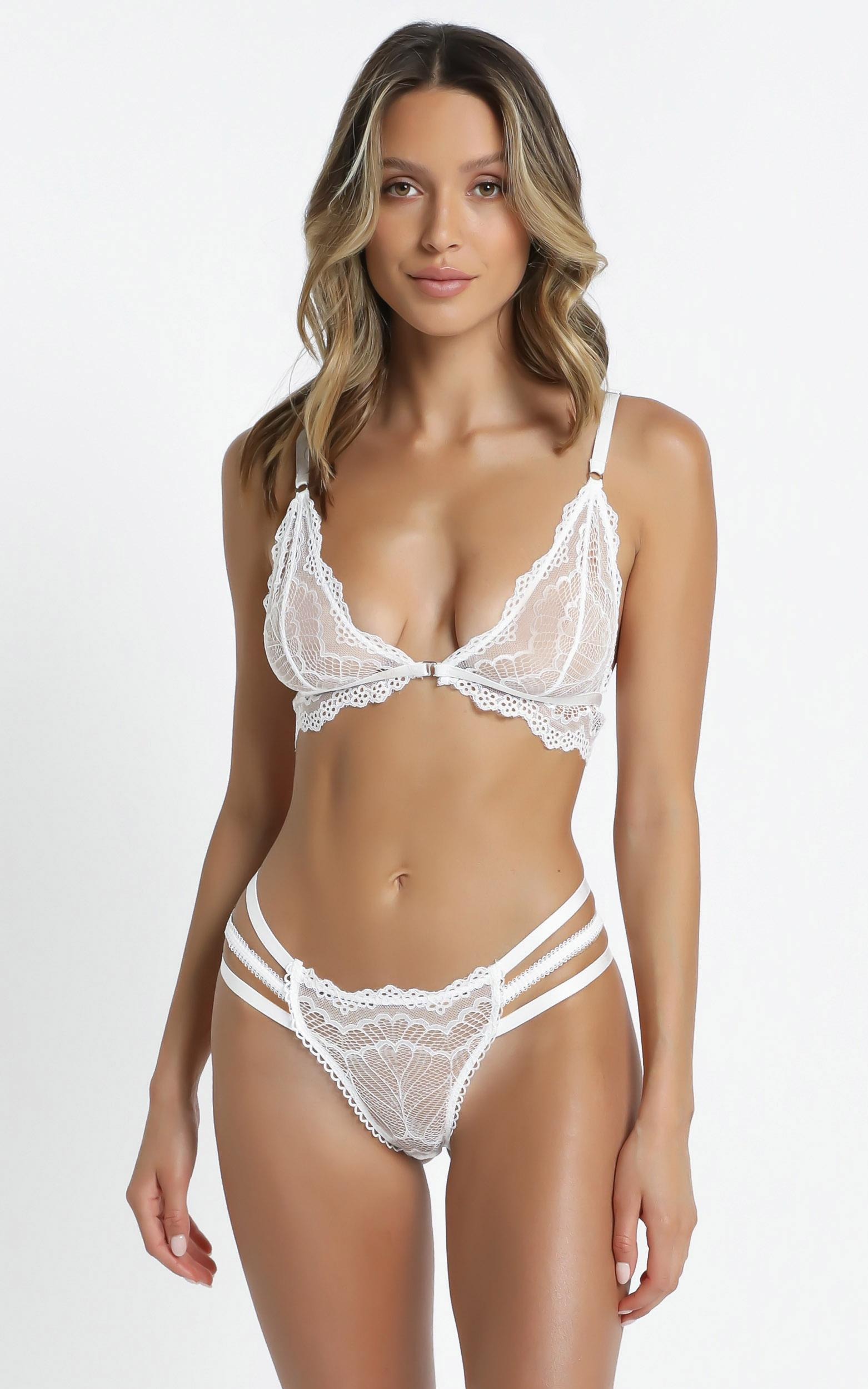 Kat The Label - Vienna Bralette in White - XS, White, hi-res image number null