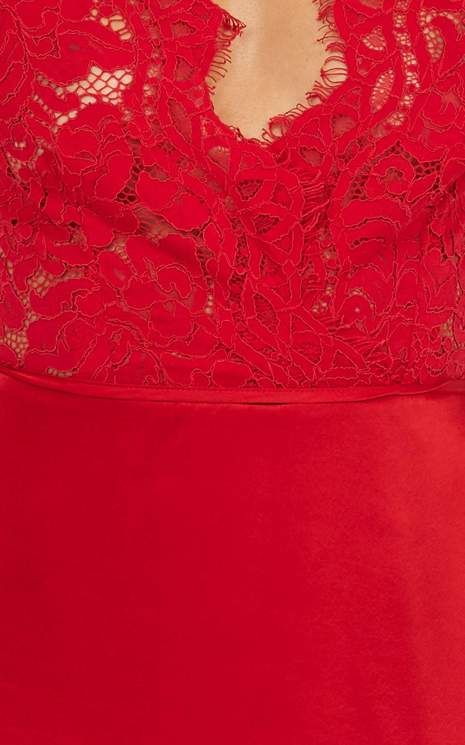 Love Grows Dress in Red Satin - 20 (XXXXL), Red, hi-res image number null