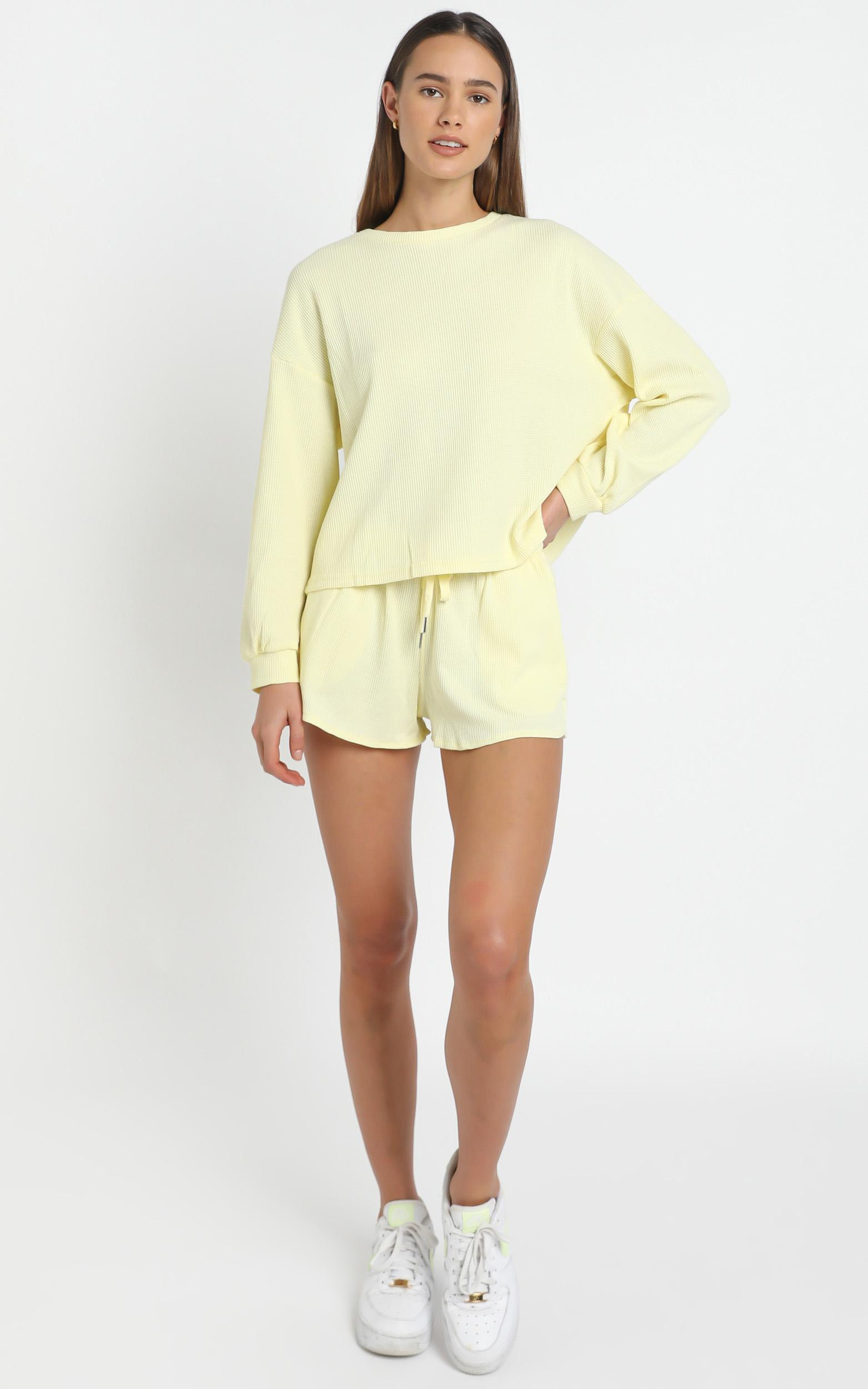 Millie Two Piece Set in Pastel Yellow - 12 (L), Yellow, hi-res image number null