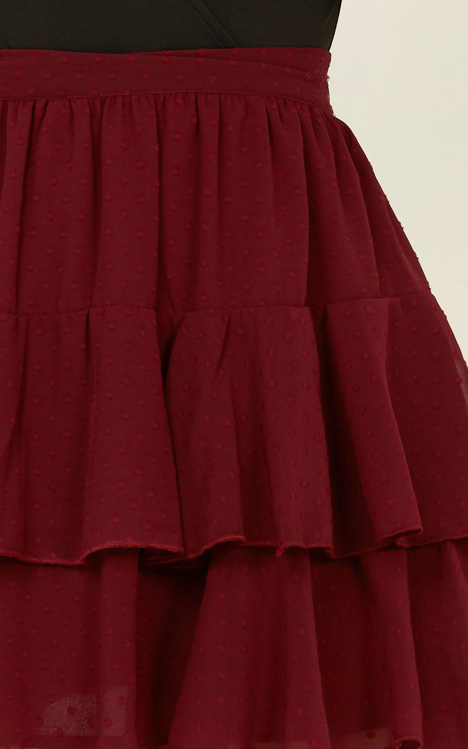High Stakes Skirt in wine - 20 (XXXXL), Wine, hi-res image number null