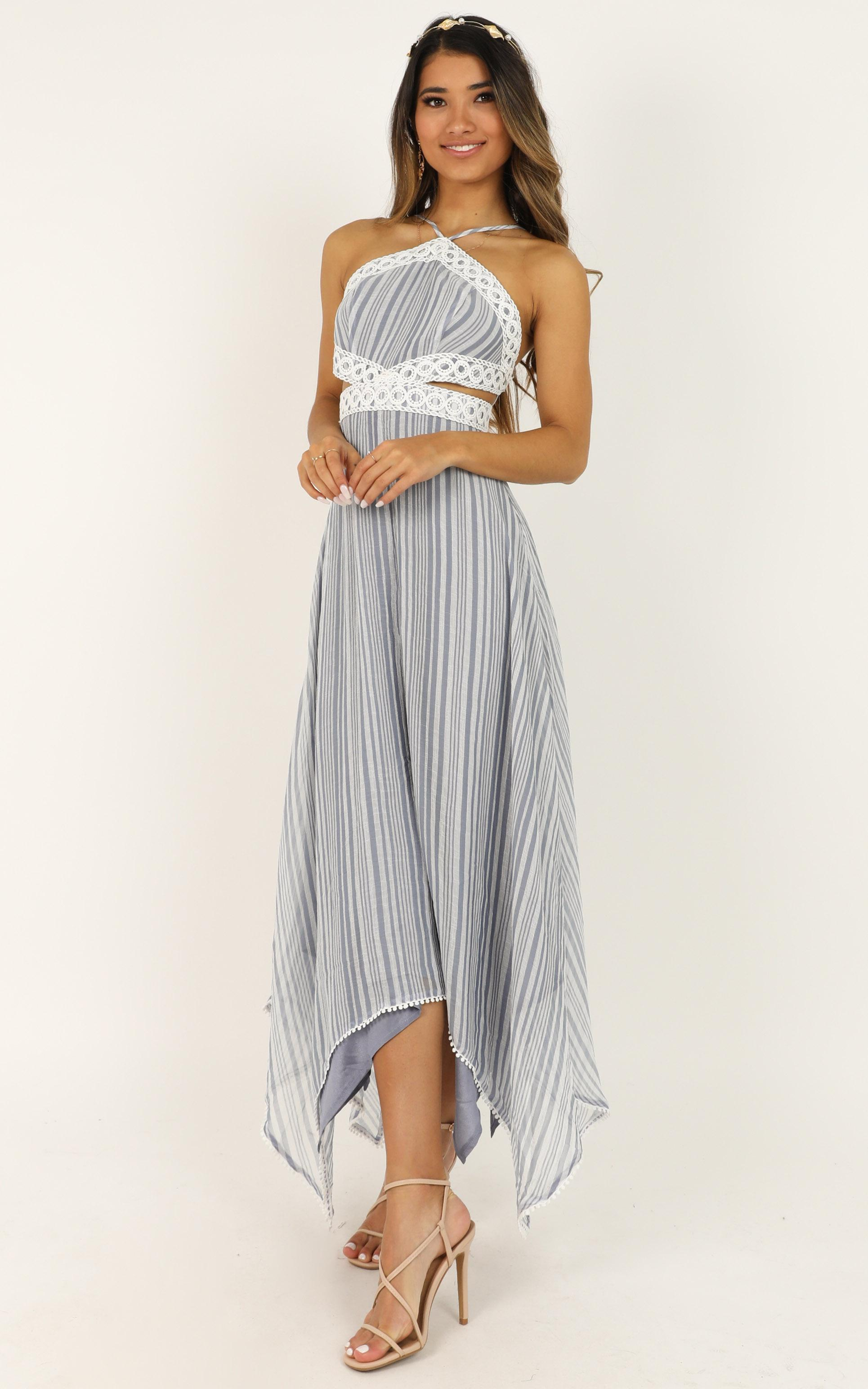 Into My Arms Dress in blue stripe - 20 (XXXXL), Navy, hi-res image number null