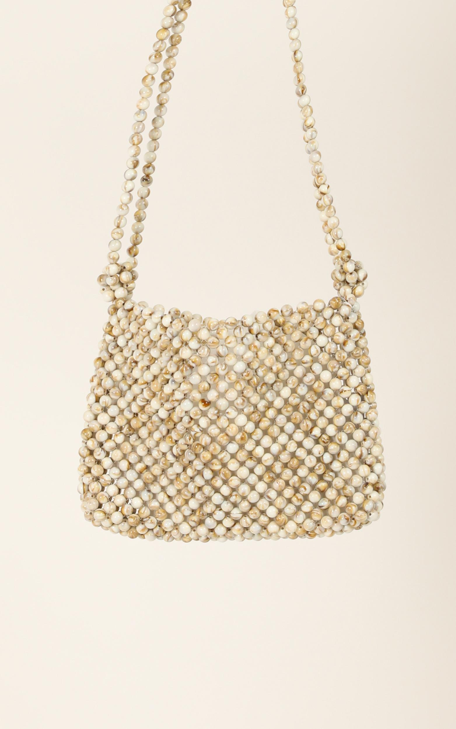 After The Sun Beaded Bag In Stone, , hi-res image number null