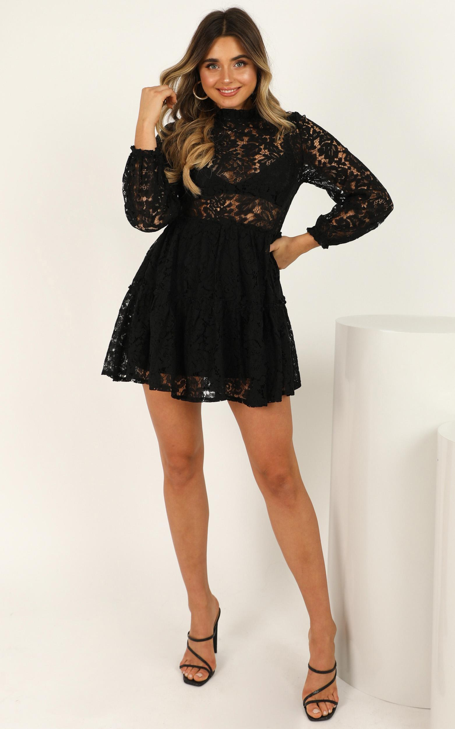 Listen Before I Go Dress in black lace - 20 (XXXXL), Black, hi-res image number null