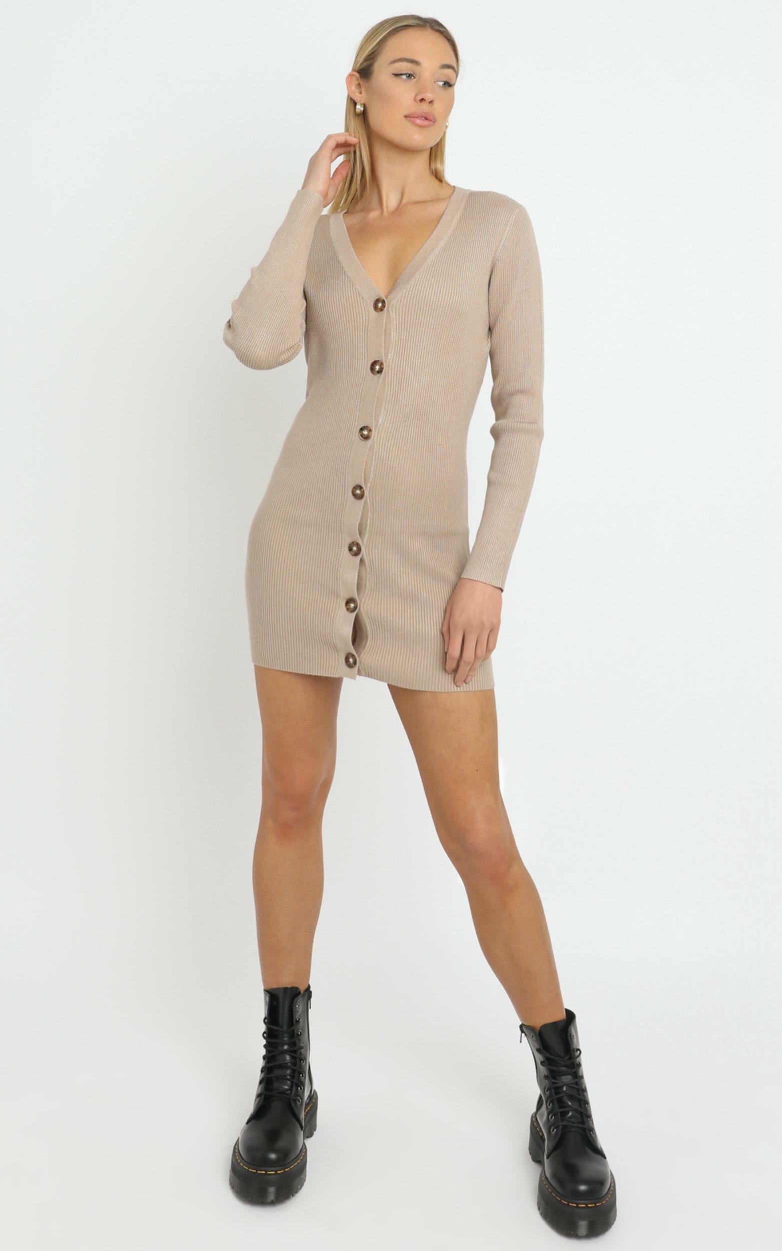 Earie Dress in Beige - M/L, Beige, hi-res image number null