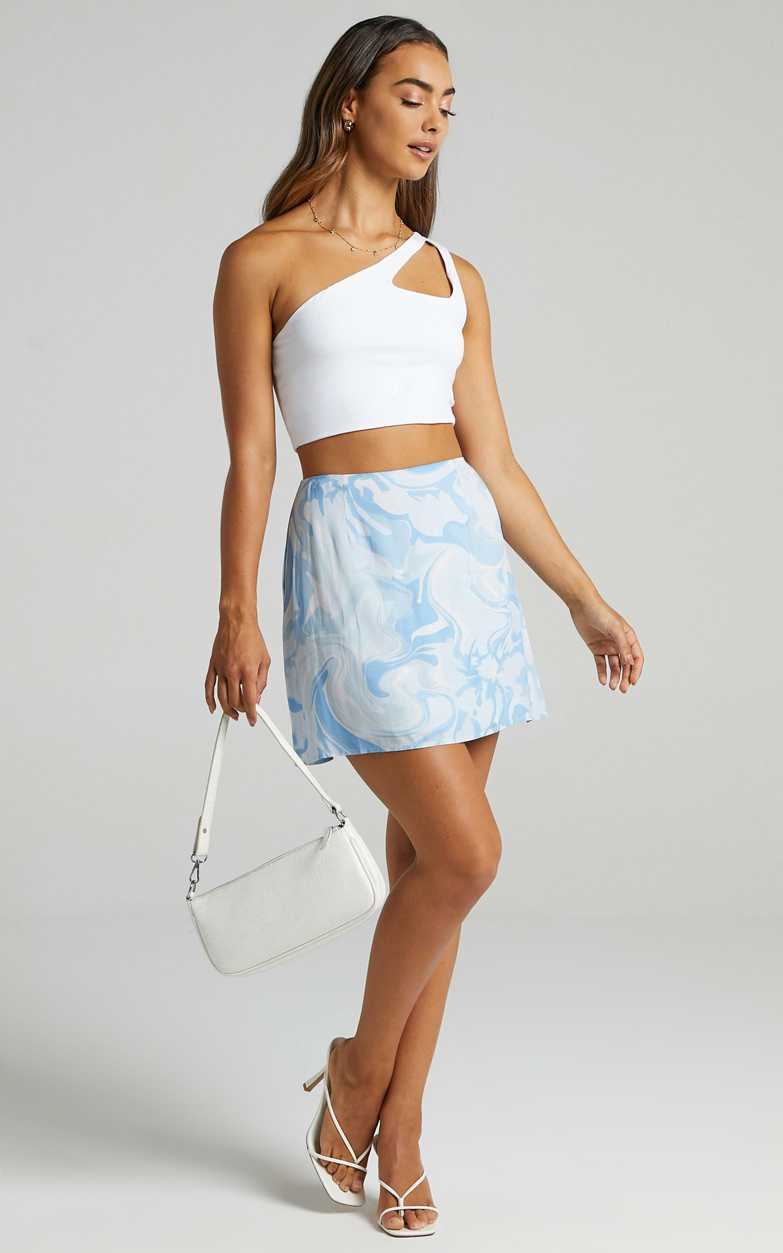 Sharnice Skirt in Blue Marble - 6 (XS), BLU1, hi-res image number null