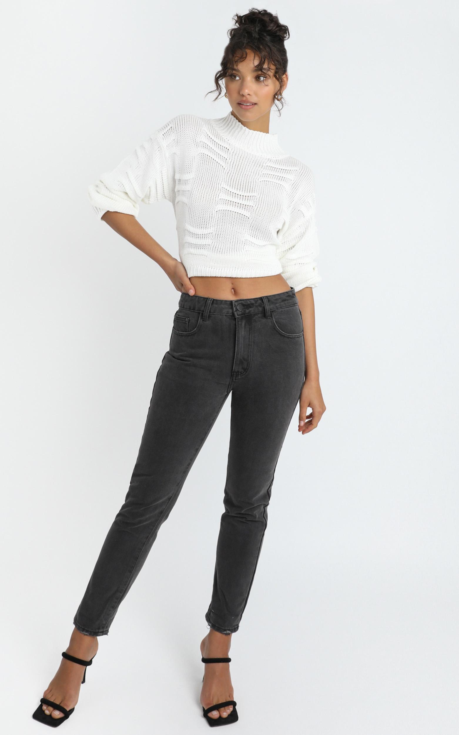 Remy Jeans in washed black denim - 14 (XL), Black, hi-res image number null