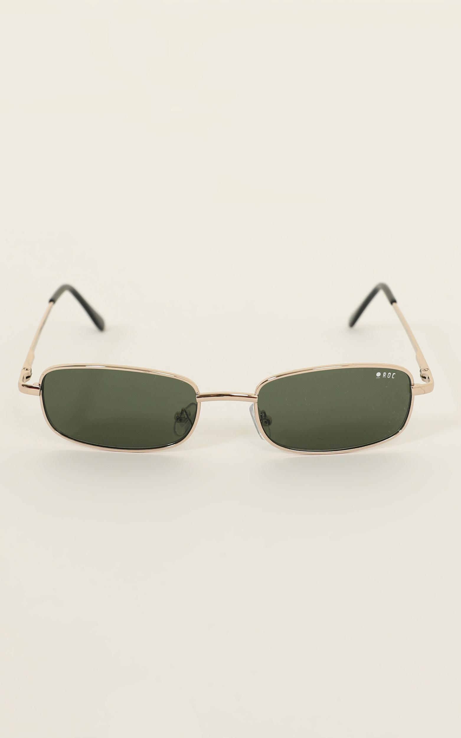 Roc - Double Agent Sunglasses In Gold, , hi-res image number null