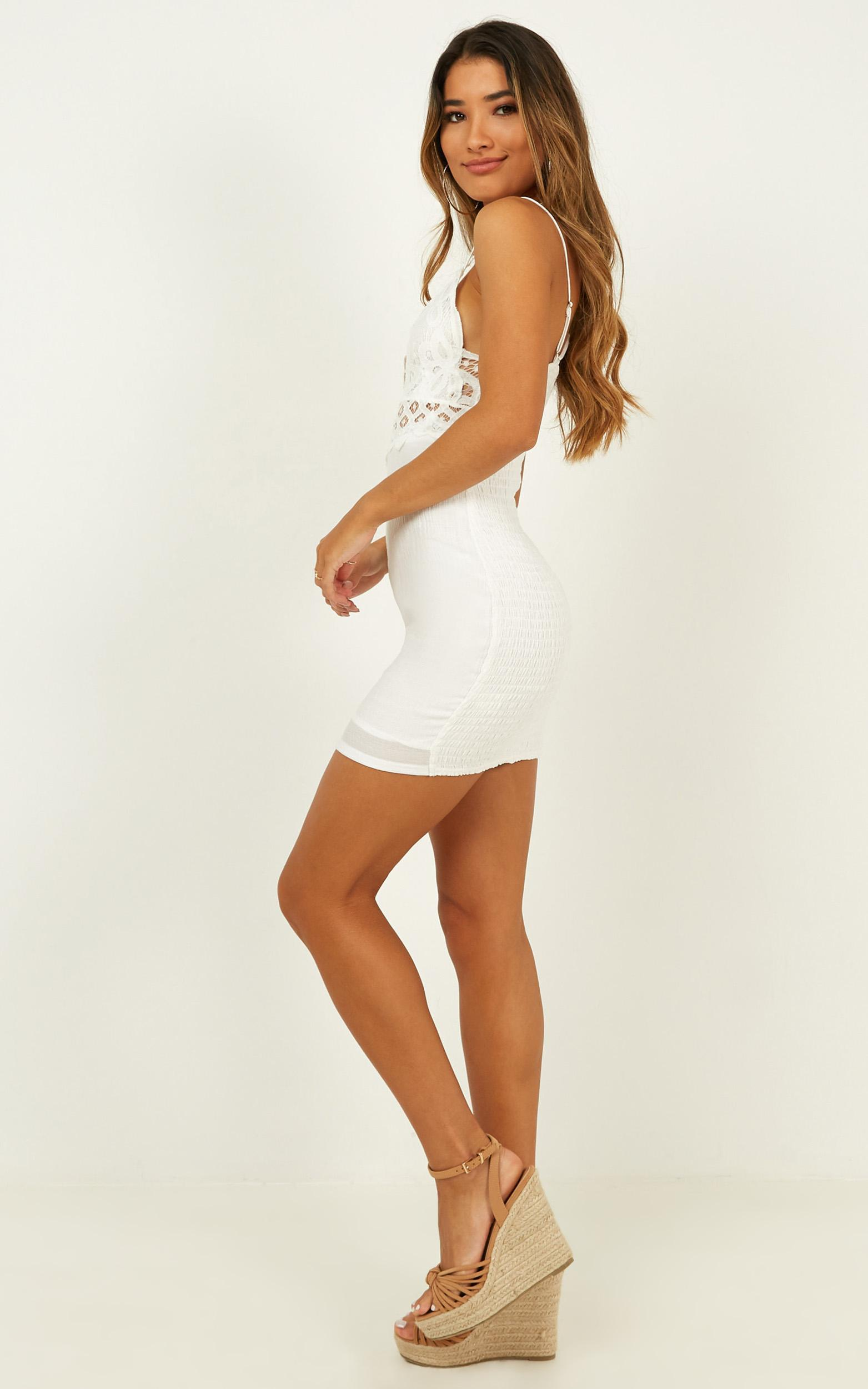 Love Language dress in white lace - 12 (L), White, hi-res image number null