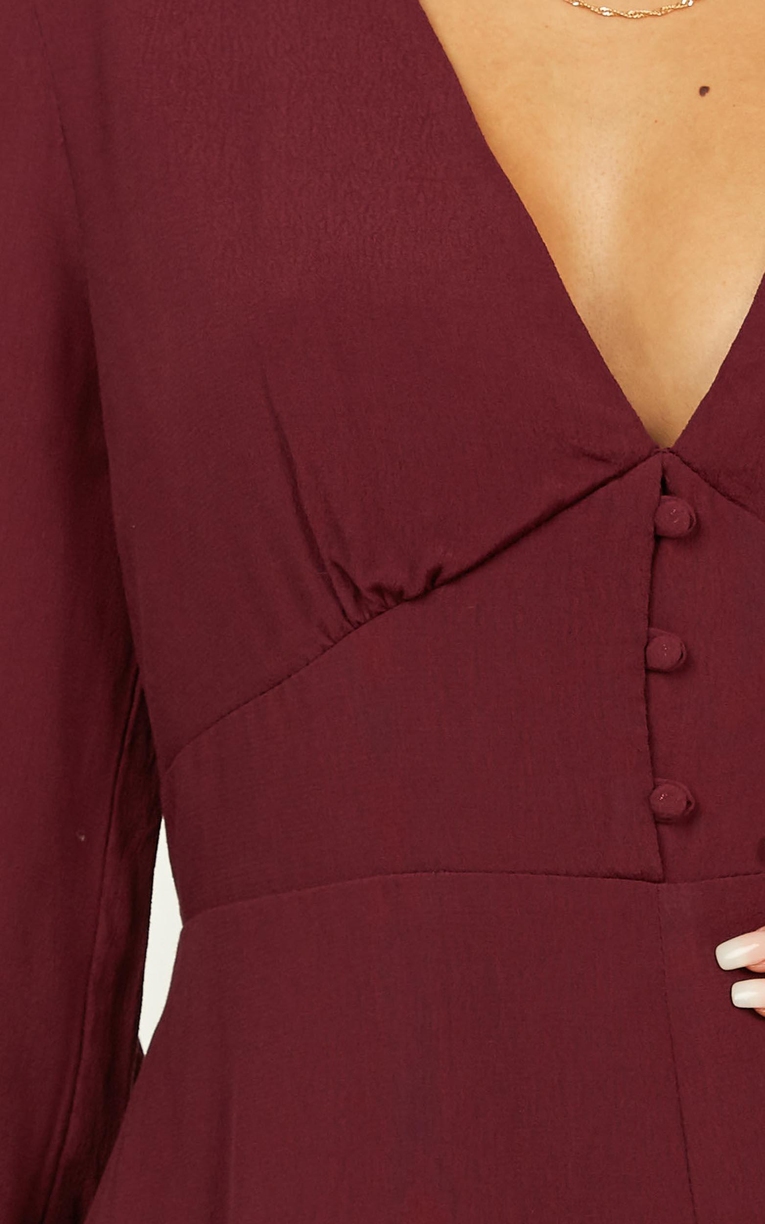 Stuck With It Playsuit in aubergine - 20 (XXXXL), Purple, hi-res image number null