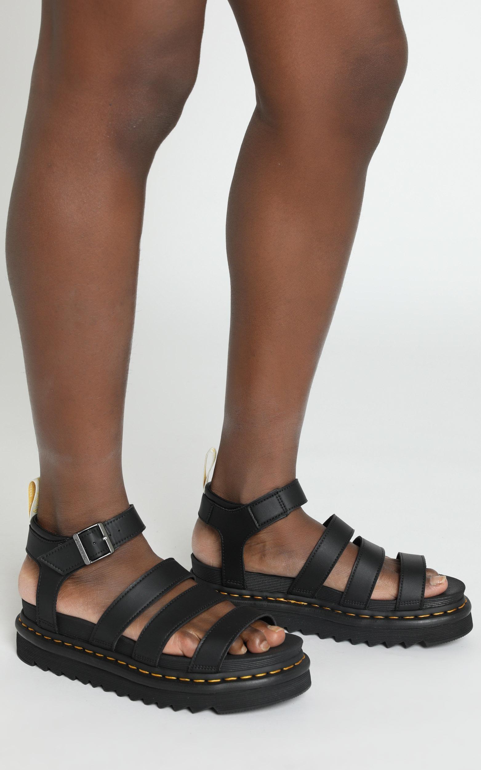 Dr. Martens - Vegan Blaire Chunk Sandal in Black - 5, Black, hi-res image number null