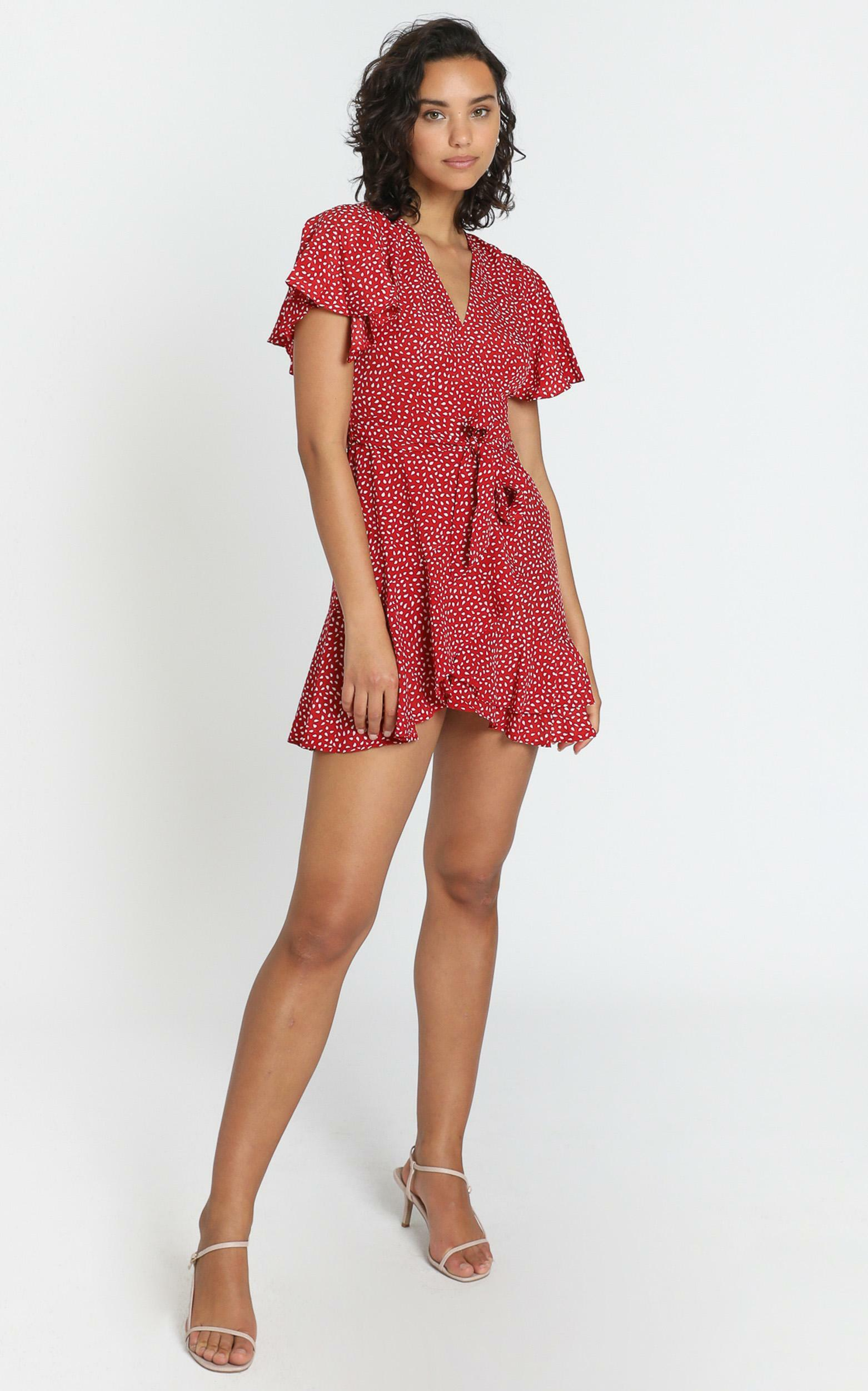 Constance Dress in Red Spot - 6 (XS), Red, hi-res image number null