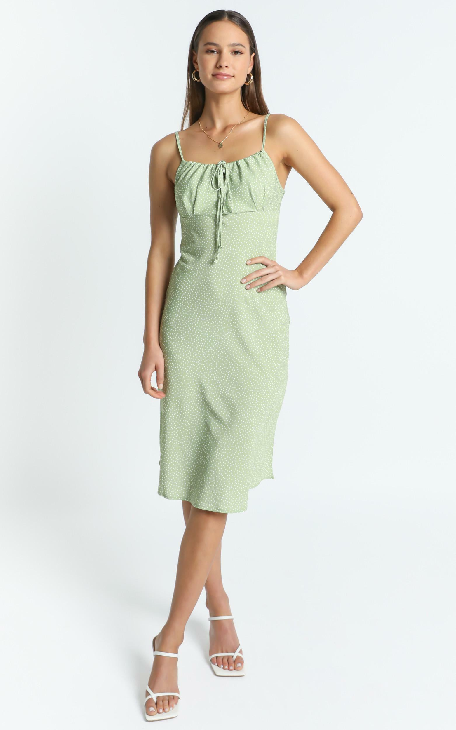 Orson Dress in Green Floral - 8 (S), Green, hi-res image number null