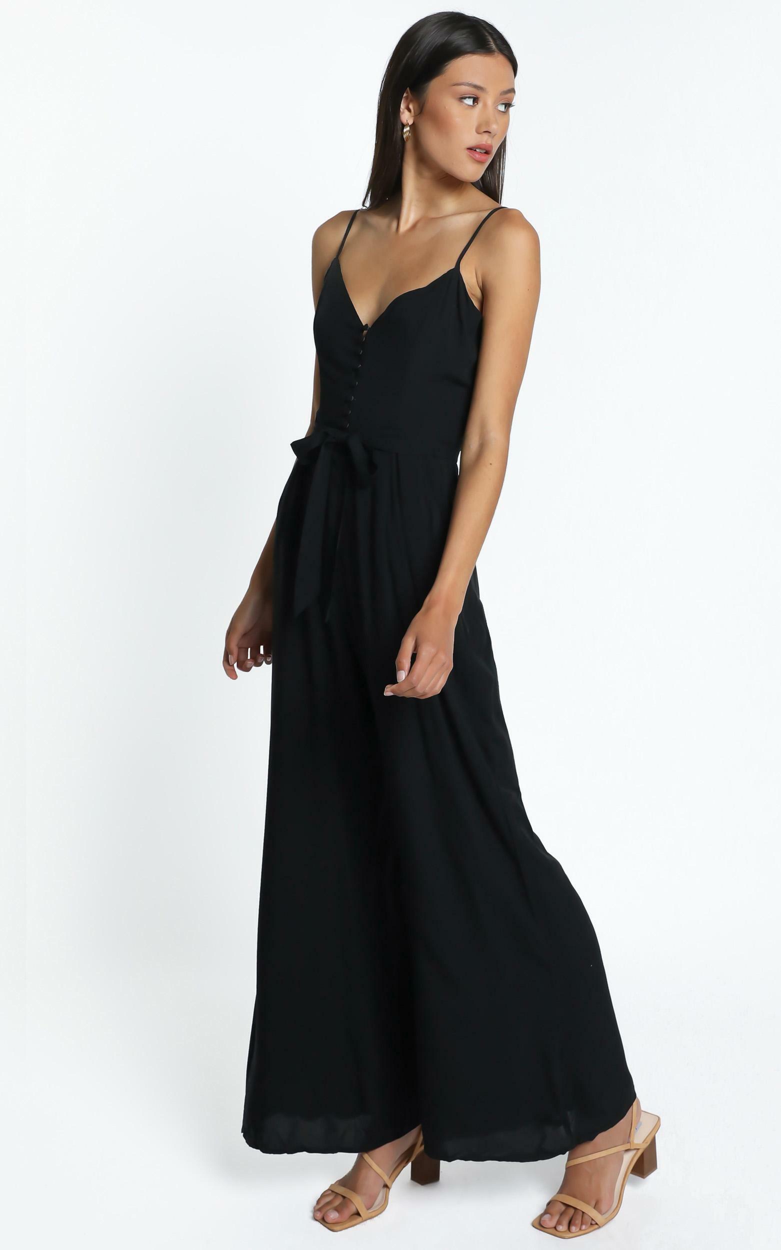 Porsha Jumpsuit in Black - 14 (XL), Black, hi-res image number null