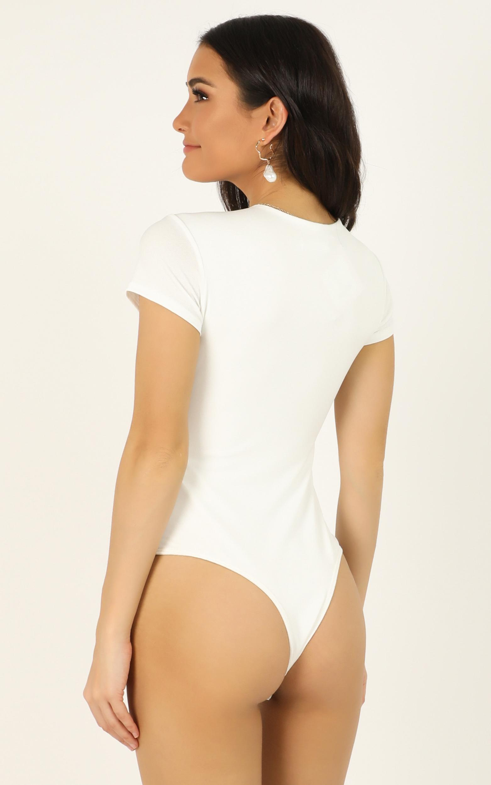 How It Happened bodysuit in white - 12 (L), White, hi-res image number null