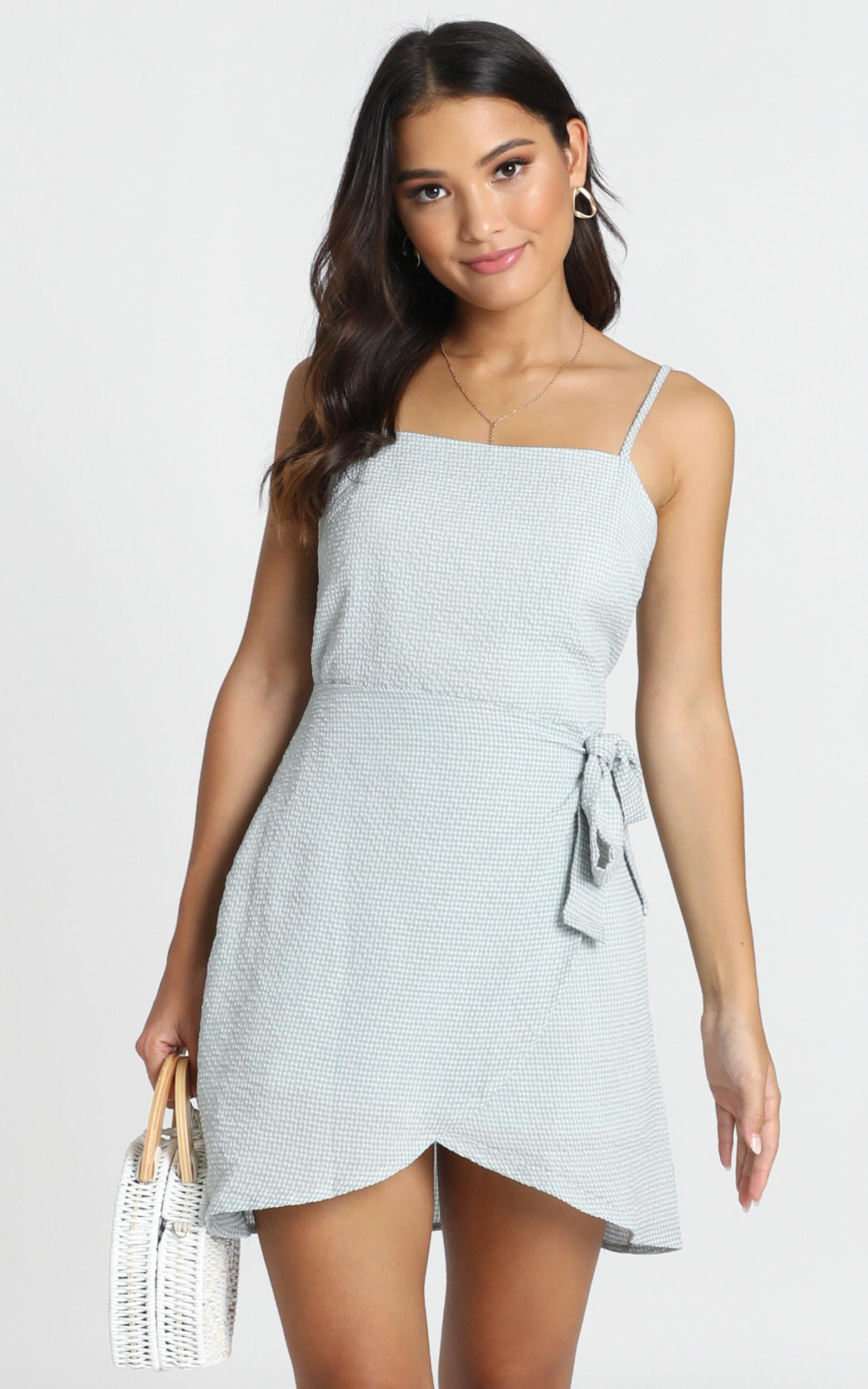 No Coincidence dress in sage check - 20 (XXXXL), Sage, hi-res image number null