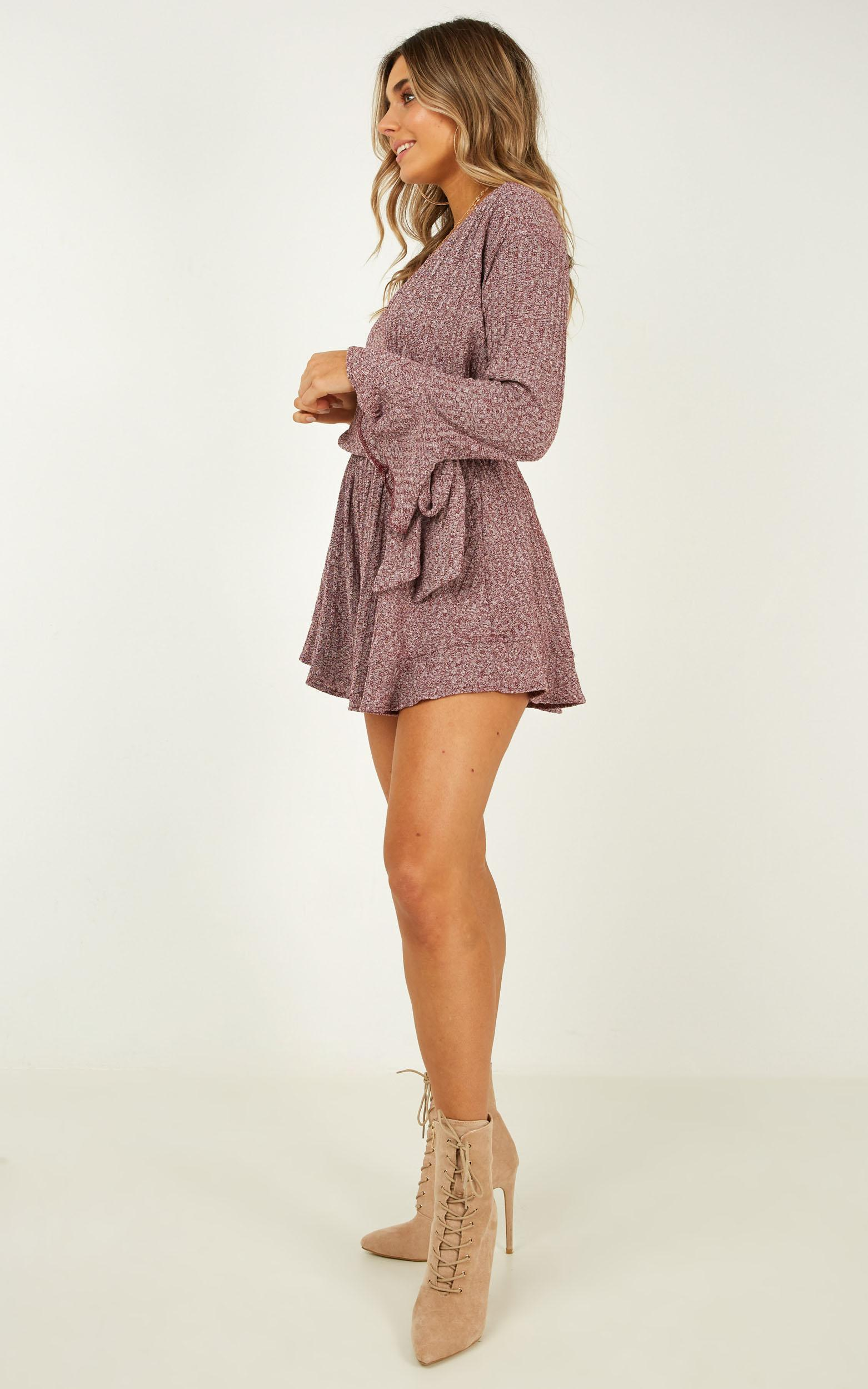 New and Fresh Playsuit in wine marle - 14 (XL), Wine, hi-res image number null