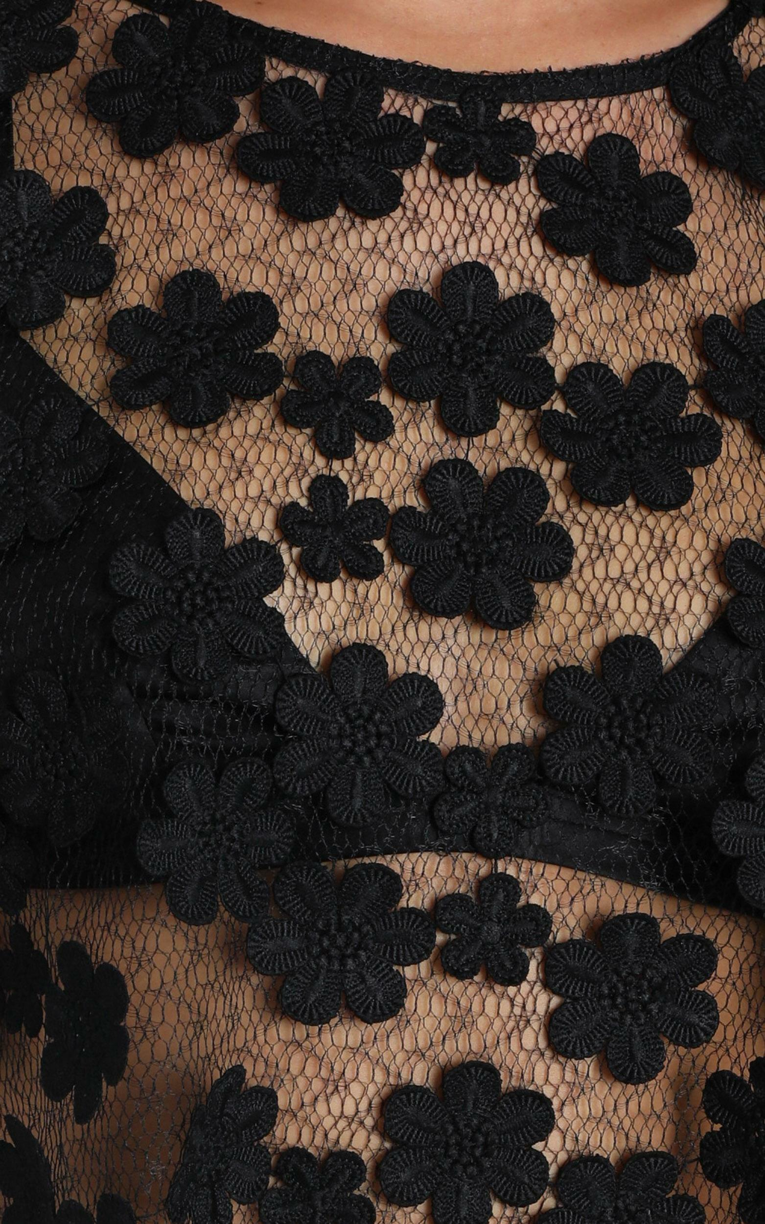 Edinburgh Top in black lace - 8 (S), Black, hi-res image number null