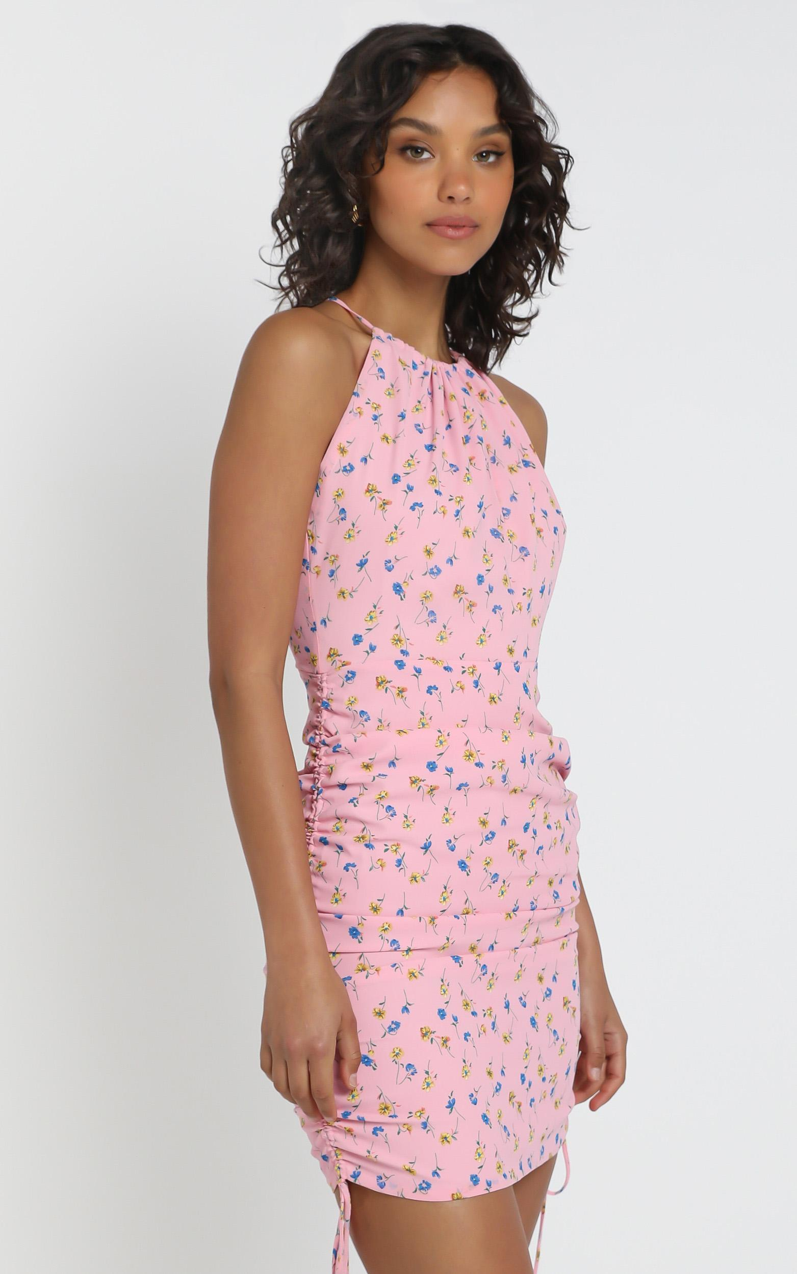 Dancing On The Stage Dress in pink floral - 4 (XXS), Pink, hi-res image number null