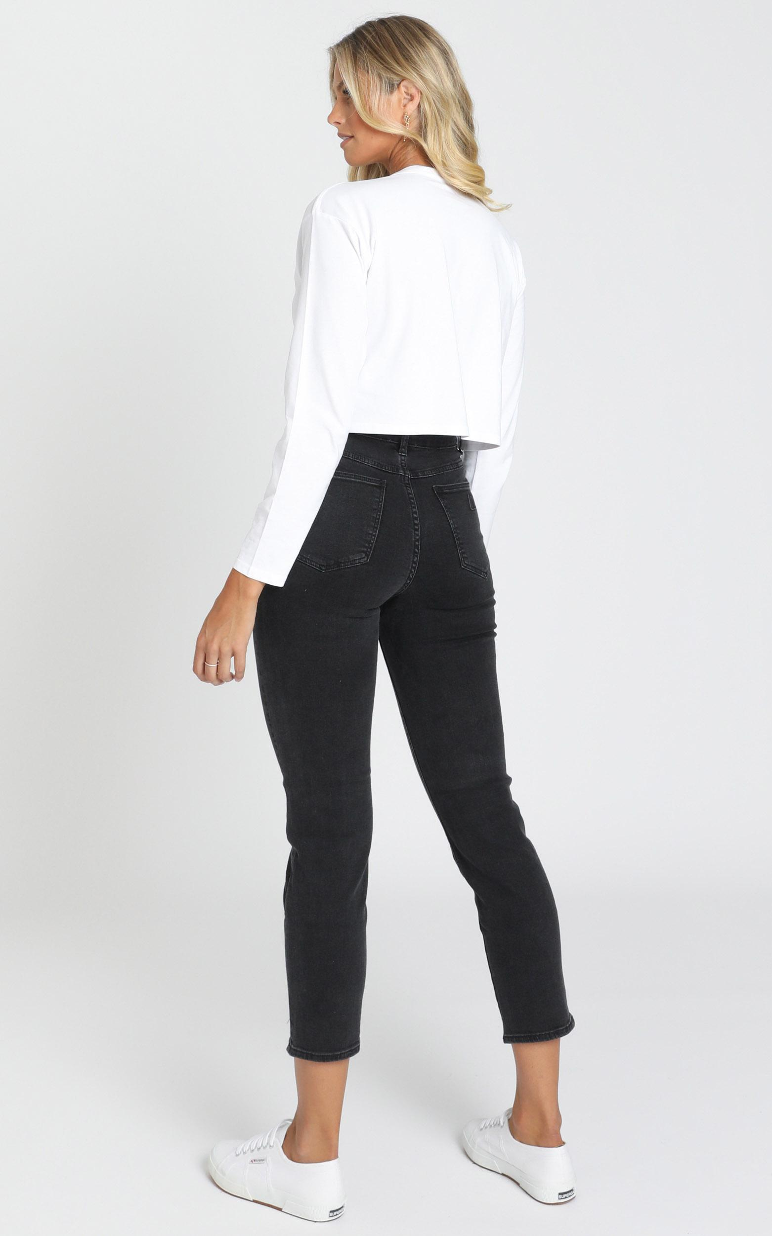 Abrand - A '94 High Slim Jeans in 90210 black - 6 (XS), Black, hi-res image number null