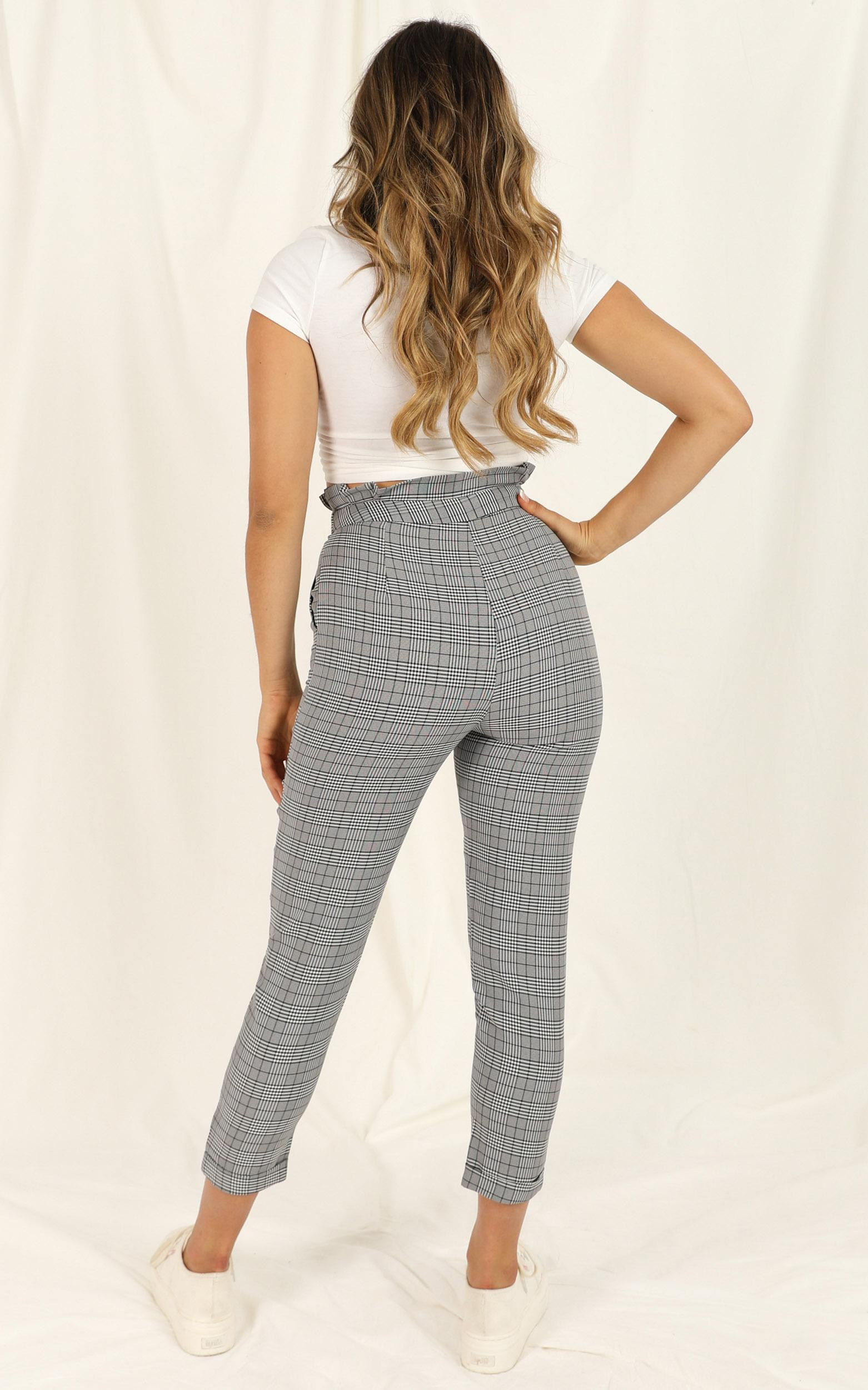 All Of The Above Pants in black check - 20 (XXXXL), Black, hi-res image number null